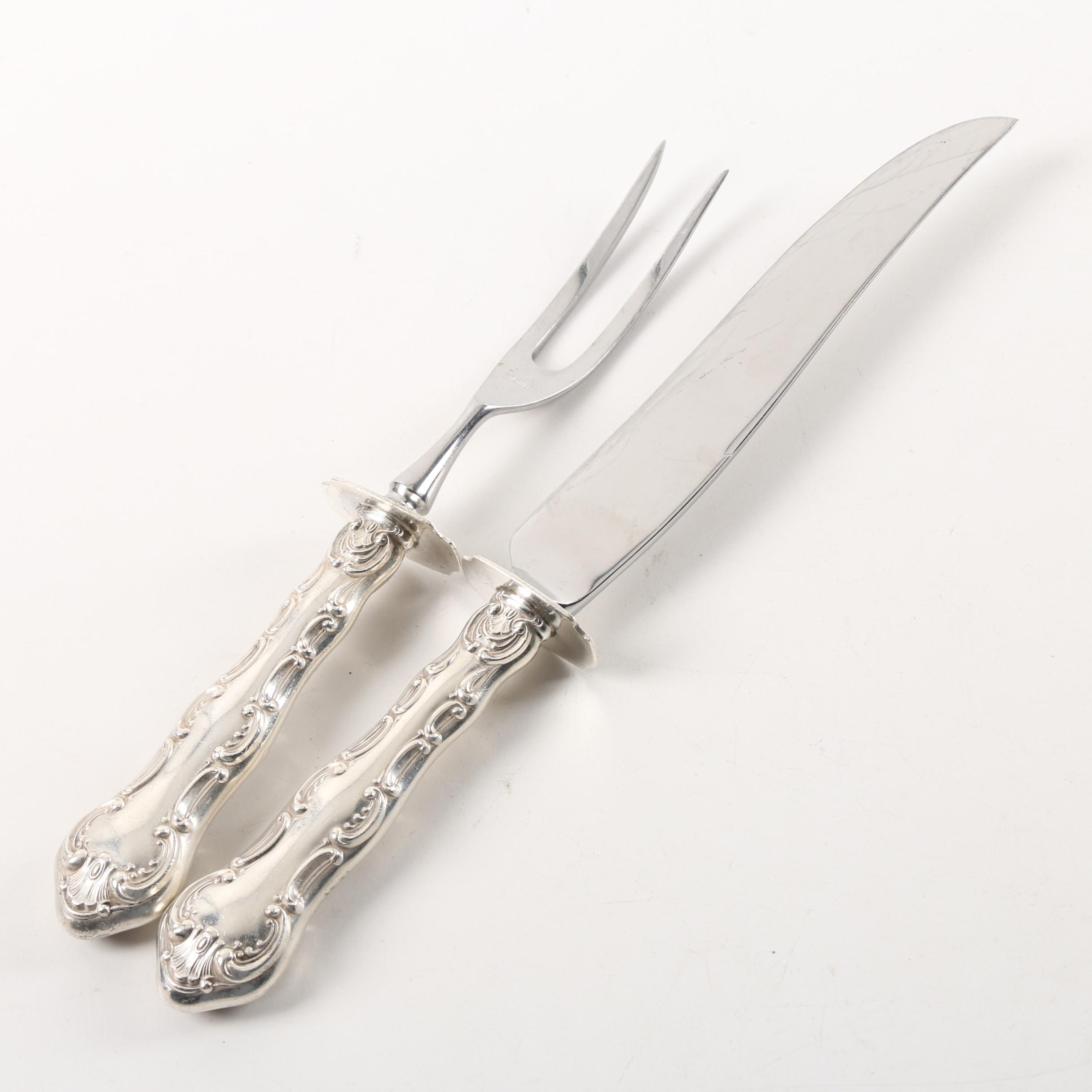Silver Plate and Stainless Steel Carving Set