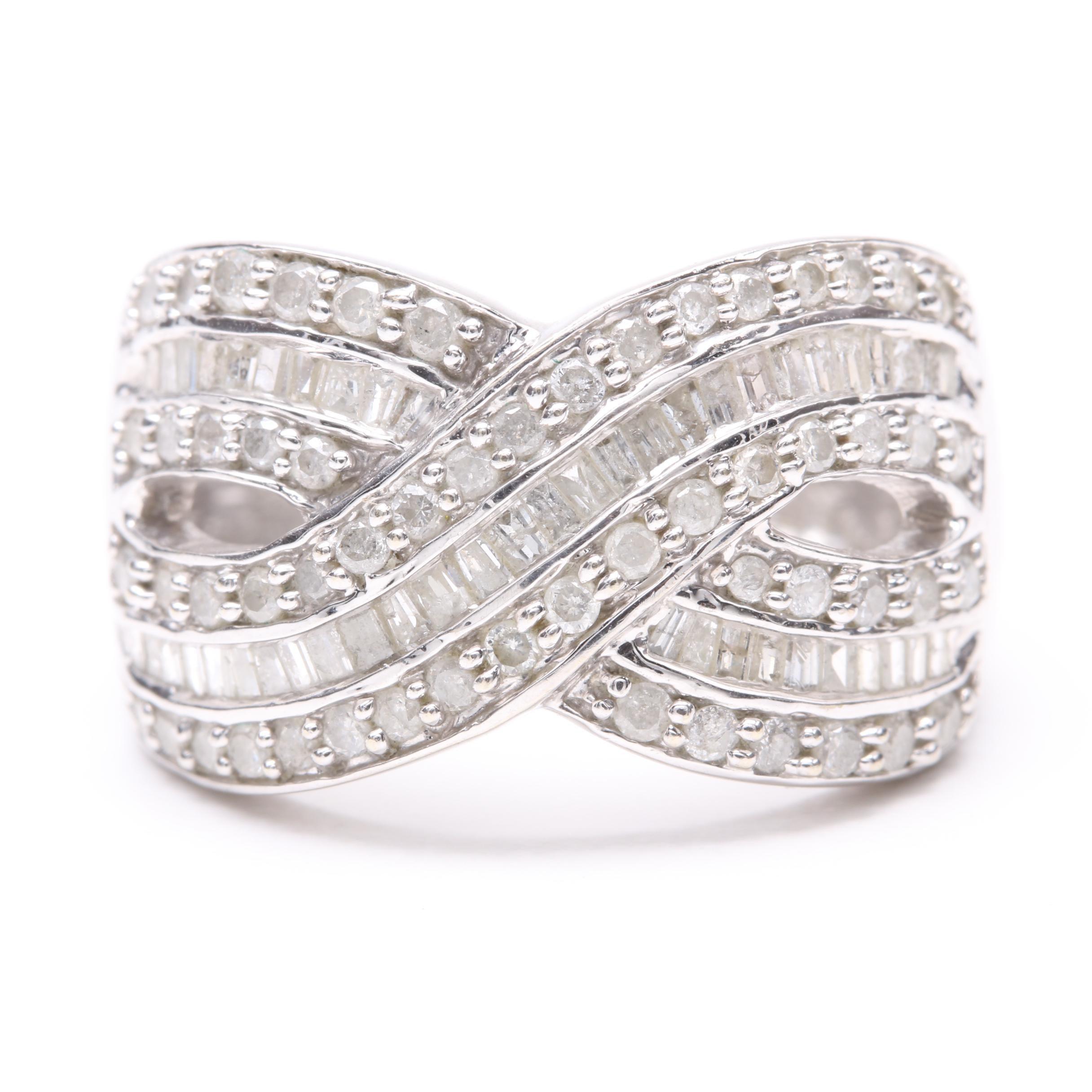 10K White Gold 1.14 CTW Diamond Ring