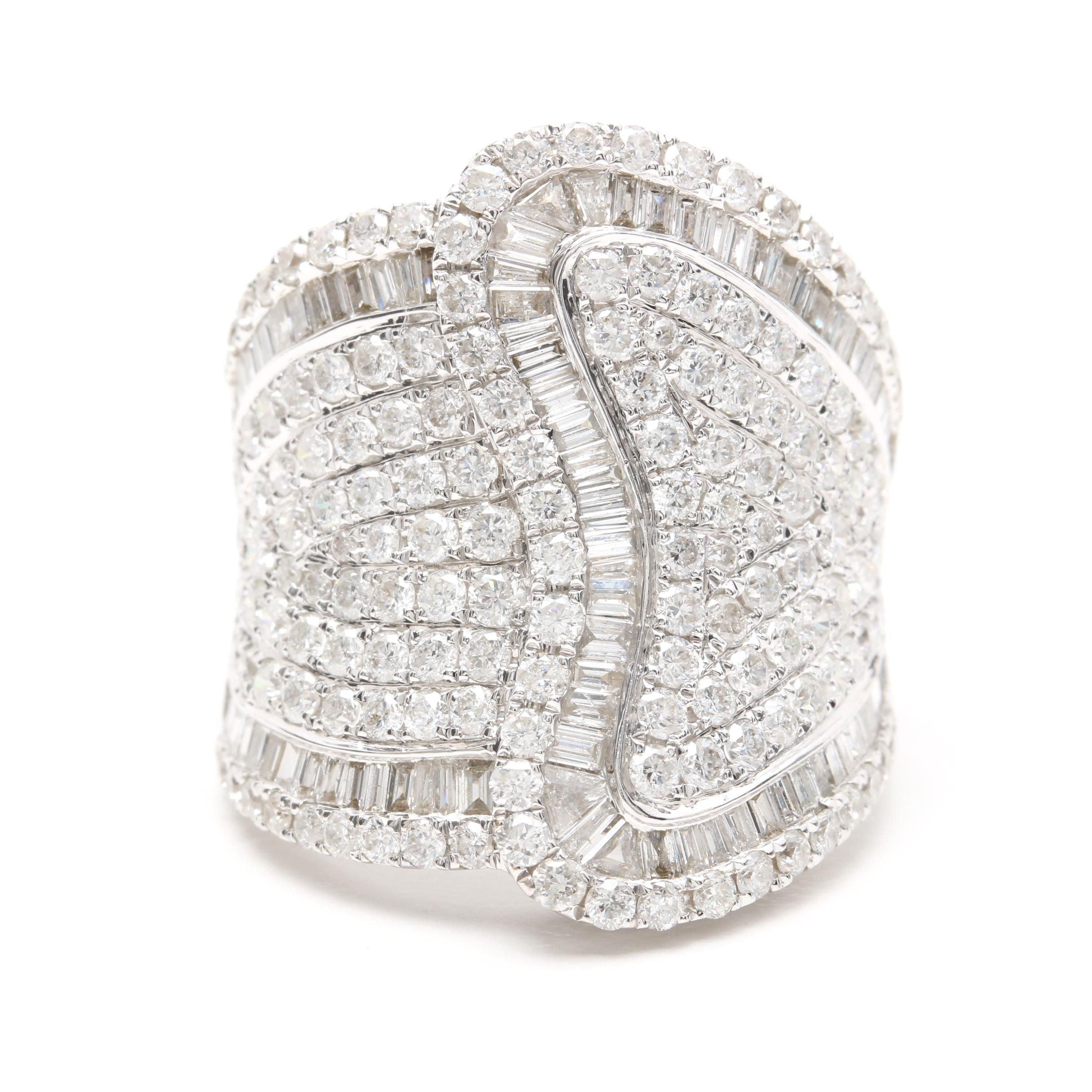 18K White Gold 3.50 CTW Diamond Ring