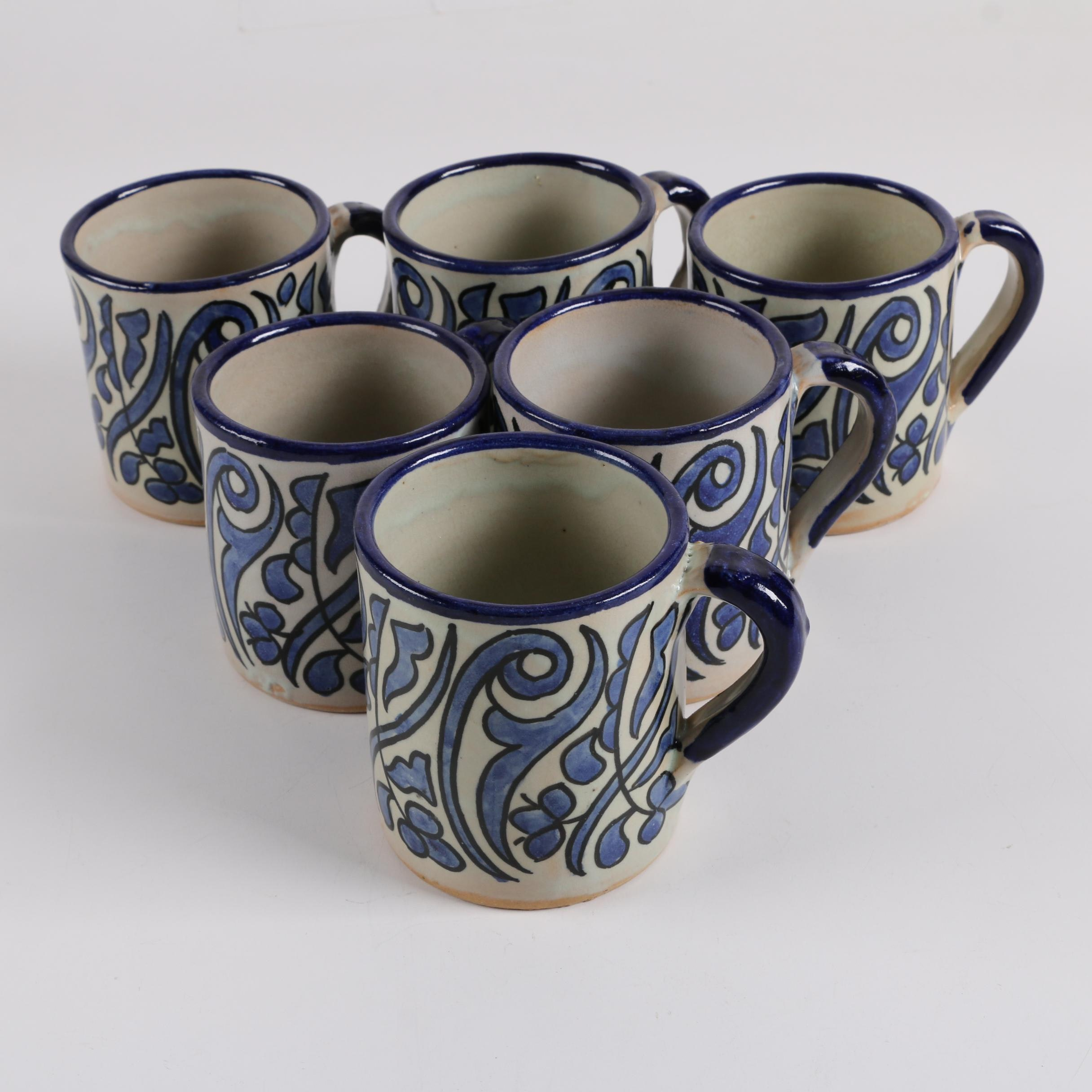 Moroccan Hand-Painted Ceramic Mugs