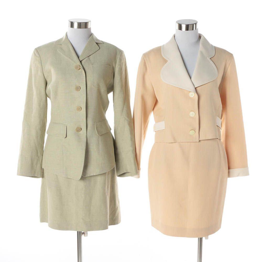 1980s Vintage Jil Sander and Courreges Skirt Suits