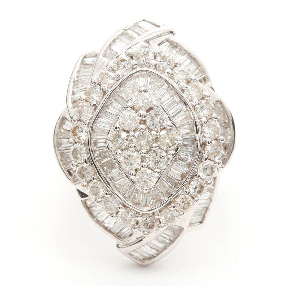 18K White Gold 2.77 CTW Diamond Ring