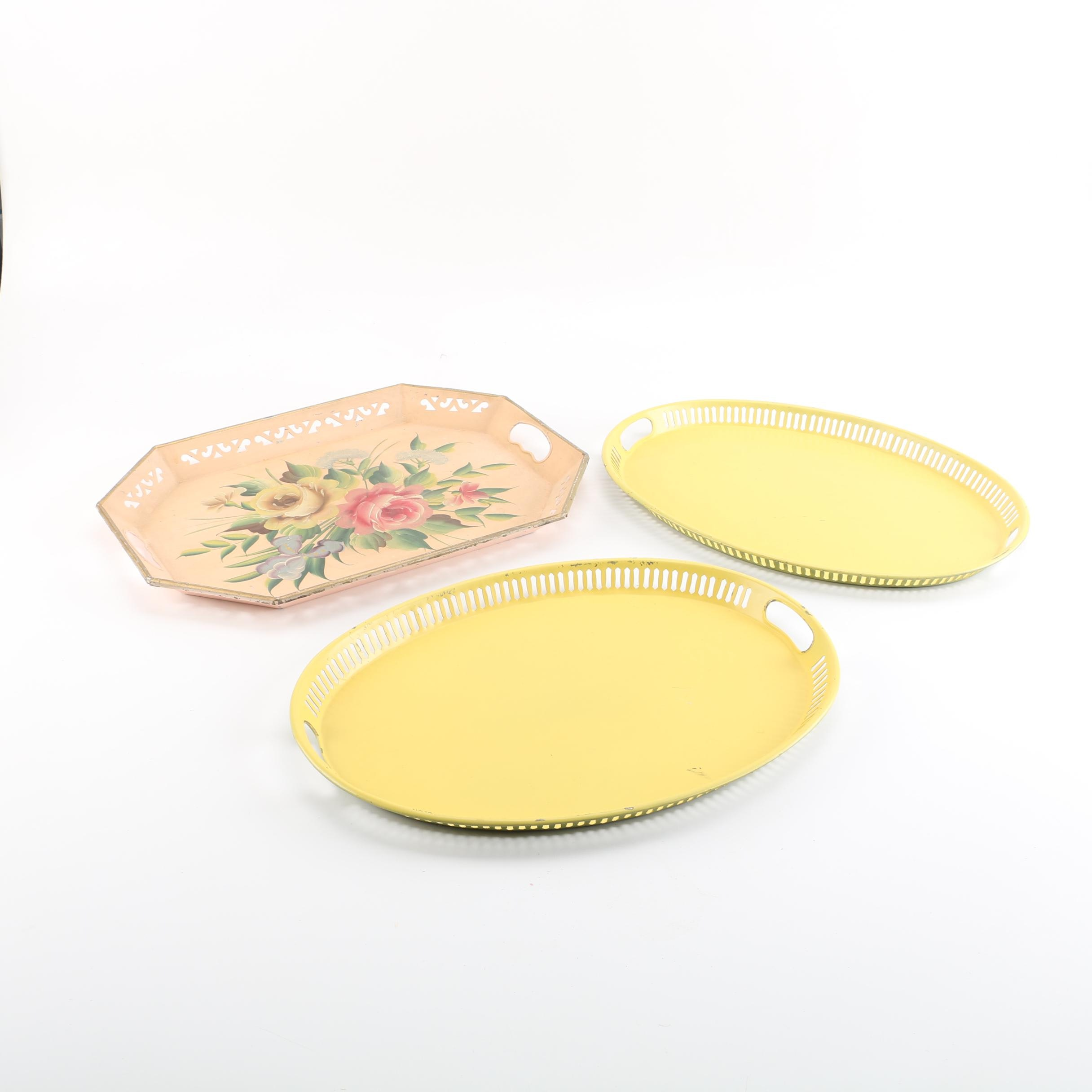 Tole Painted Metal Trays