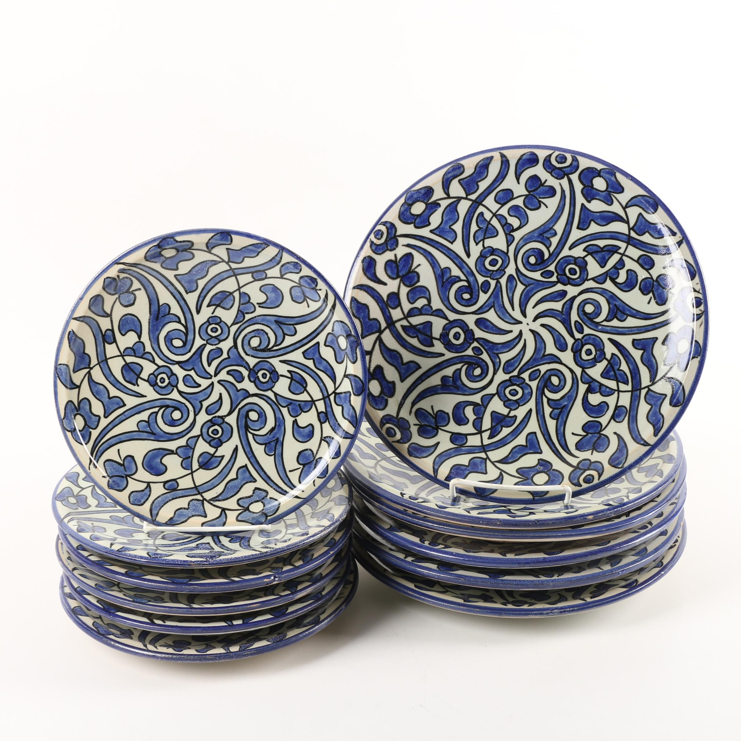 Hand-Painted Moroccan  Ceramic Plates