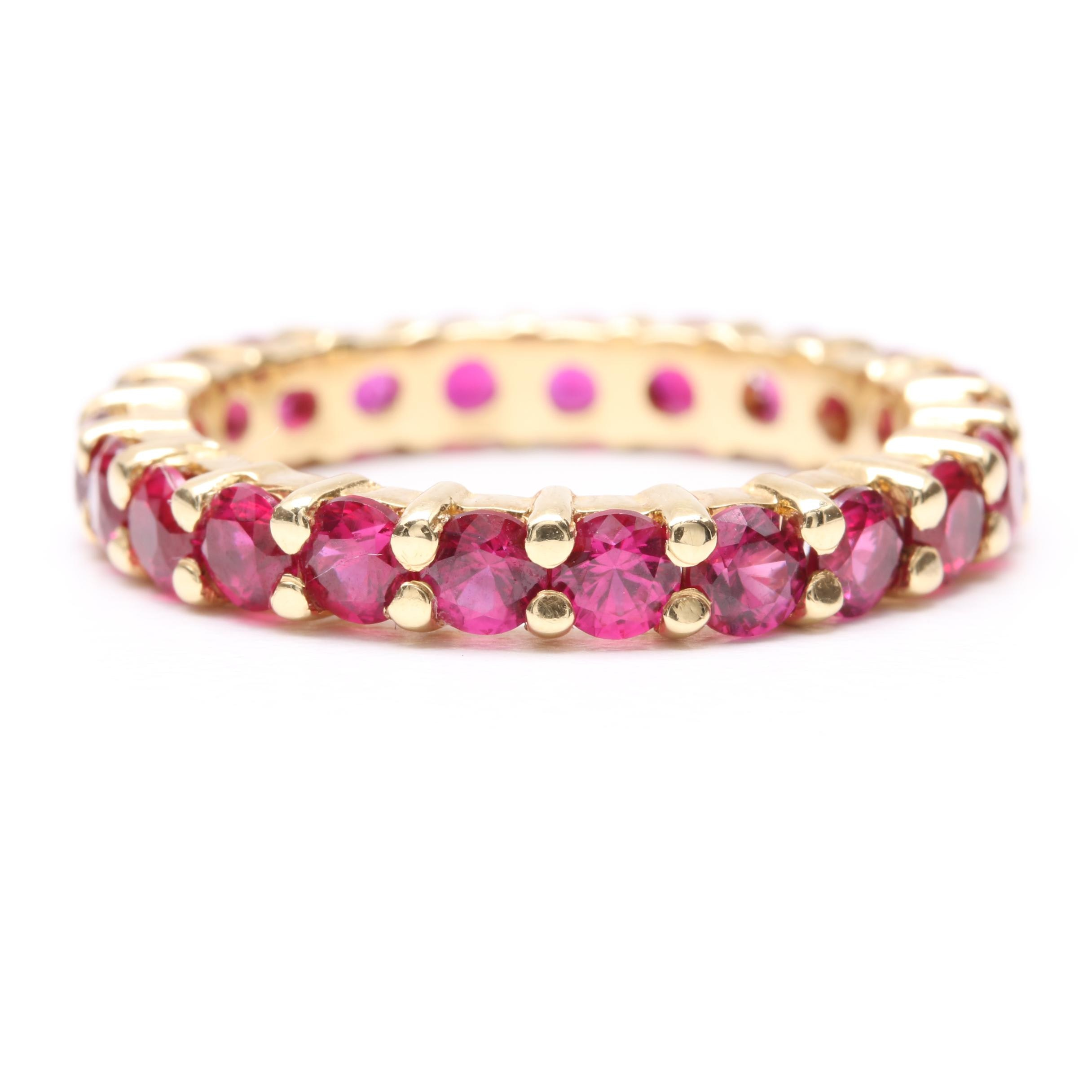 18K Yellow Gold Ruby Eternity Ring