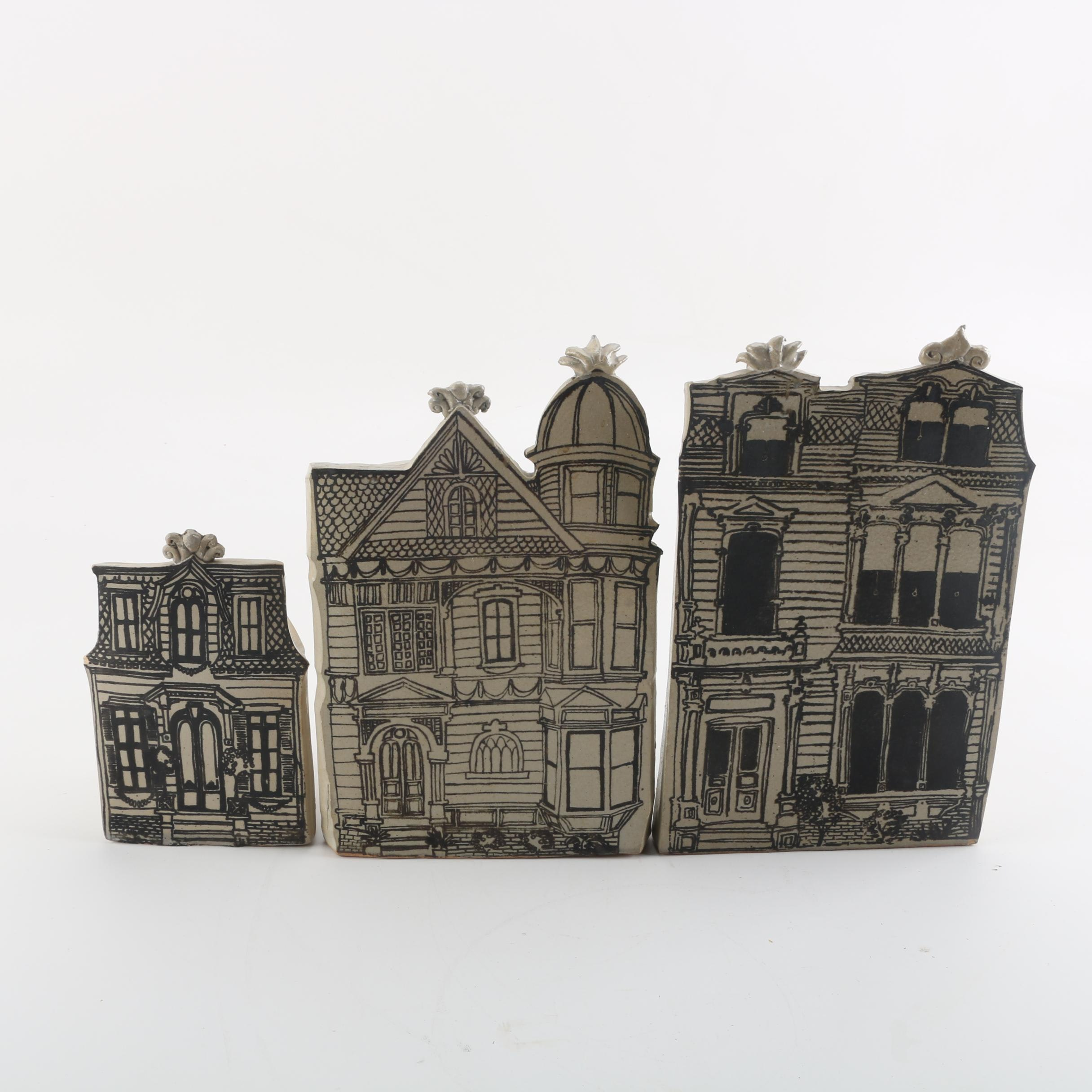 "Lopez Designs for Bennington Pottery ""Brownstone"" Planters"