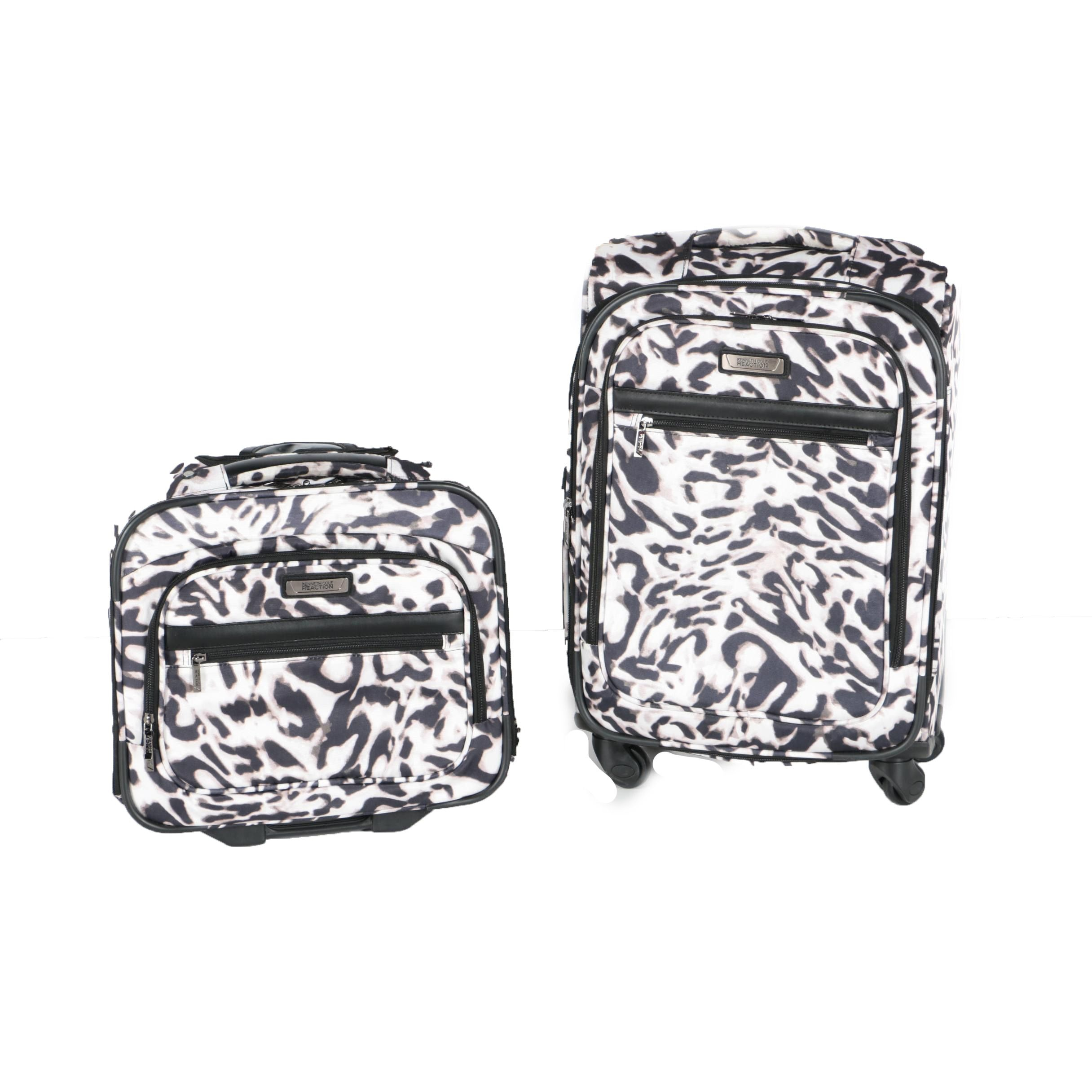 Kenneth Cole Reaction Leopard Print Carry-On and Rolling Suitcase