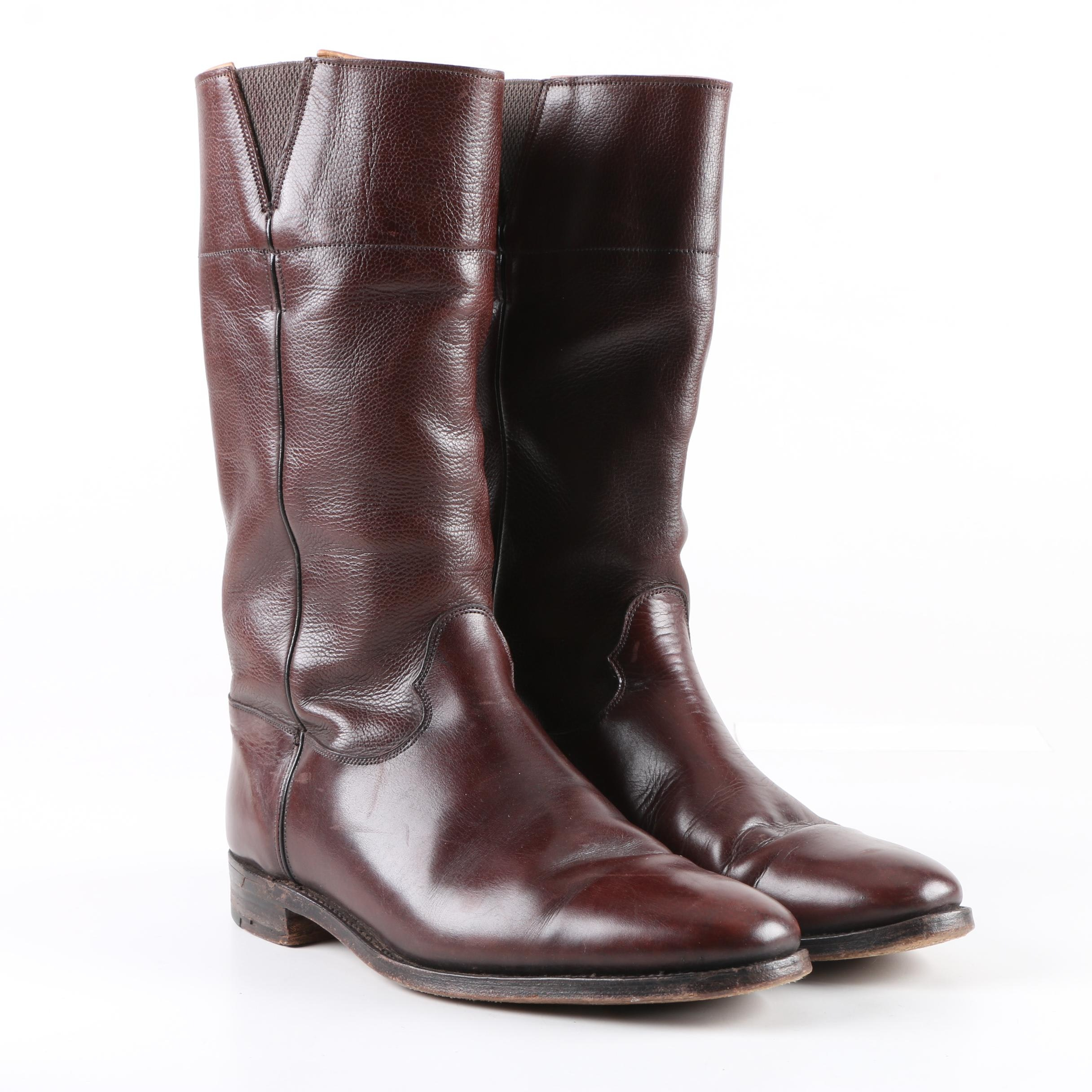 Men's Vintage Corniche by Tricker's Burgundy Leather Boots