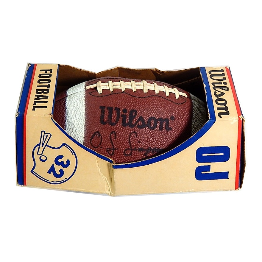 075972ace Vintage O.J. Simpson Wilson Football - Signed by Ken Anderson   EBTH
