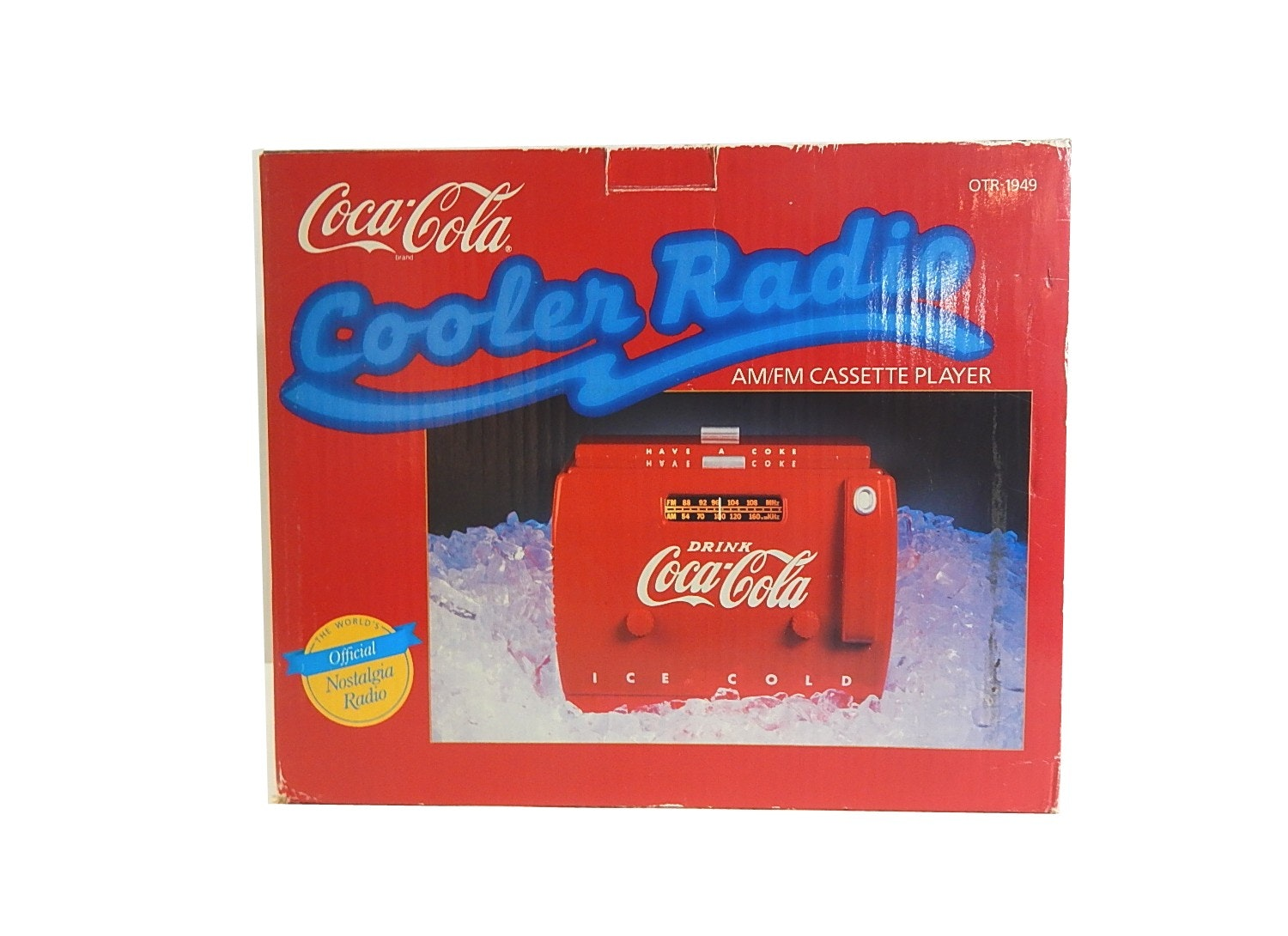 New in Box Coca-Cola Cooler Shaped Radio And Cassette Deck
