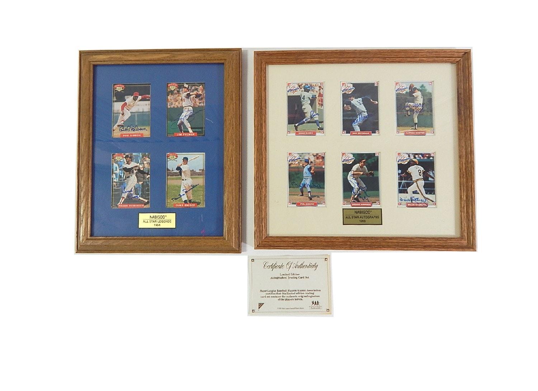 Nabisco Signed Baseball Card Collection with COA - Fr.Robinson, Snider, Banks