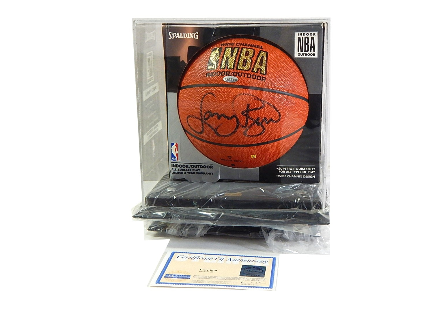 Steiner Sports Larry Bird NBA Signed Basketball with COA