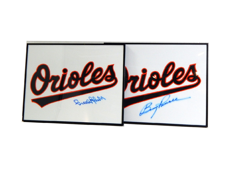 "Two Framed L/E Mini-Jerseys - HOF Brooks Robinson, ""Boog"" Powell - COA"