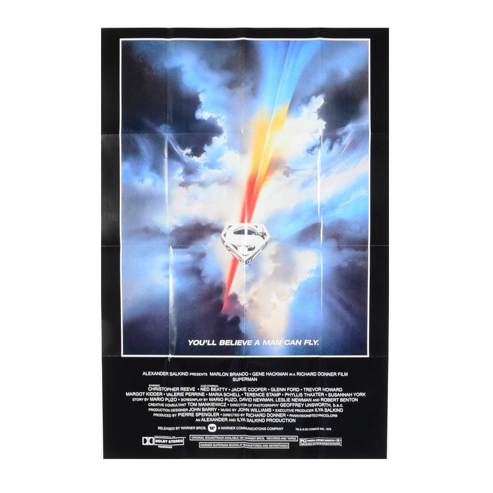 1978 Superman Movie Poster