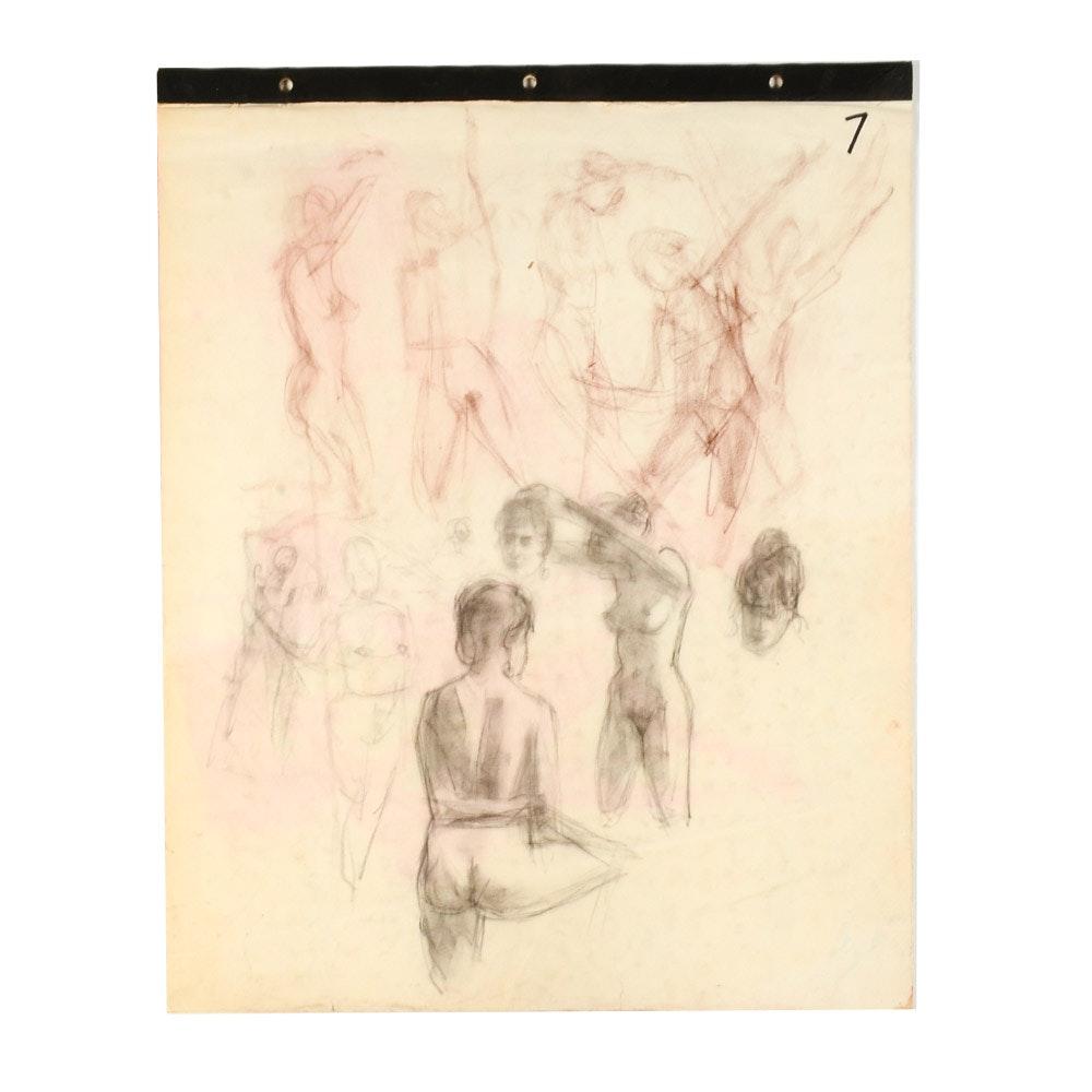 Darrell Greene Oversized Sketchbook of Figure Studies