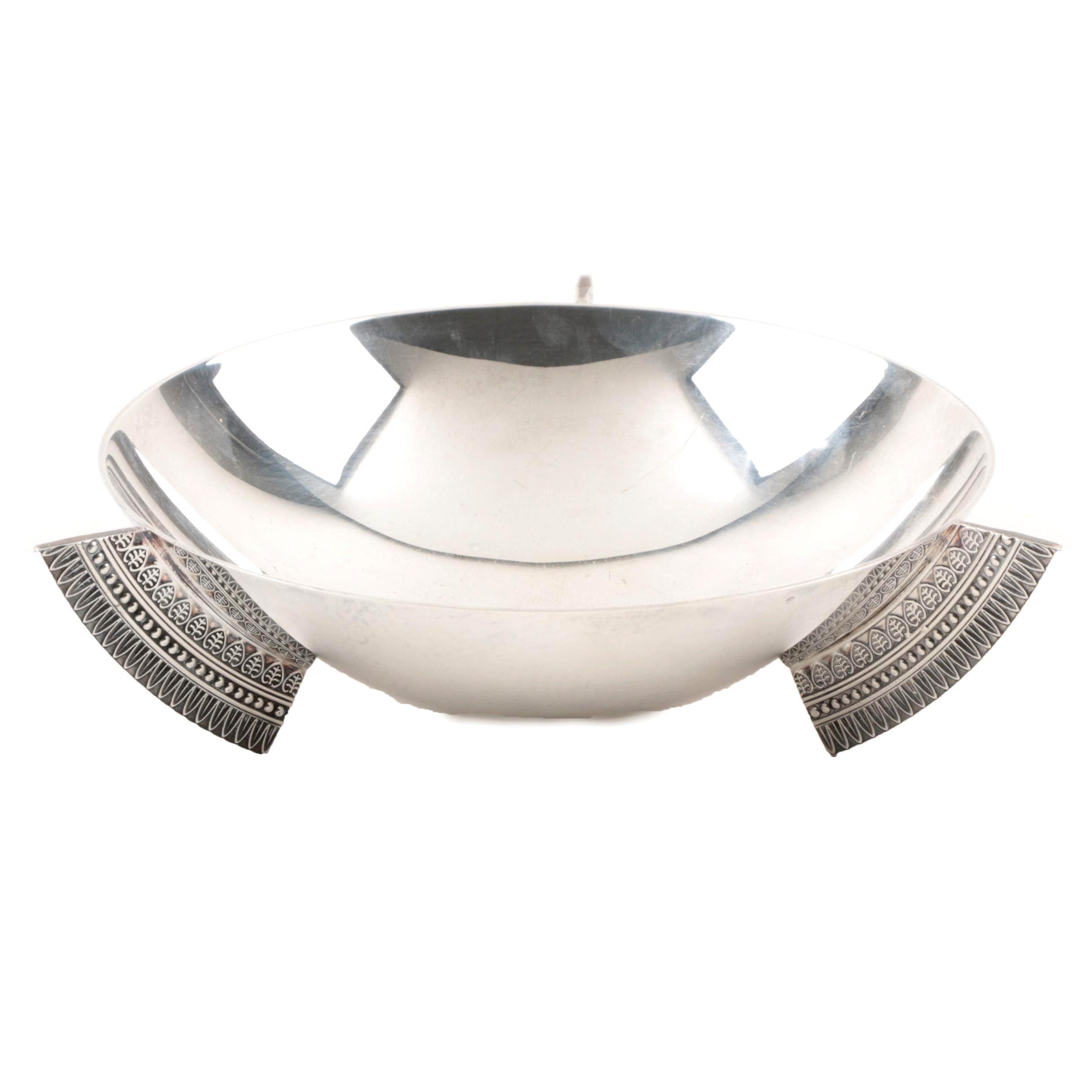 Christofle Modernist Silver Plate Bowl