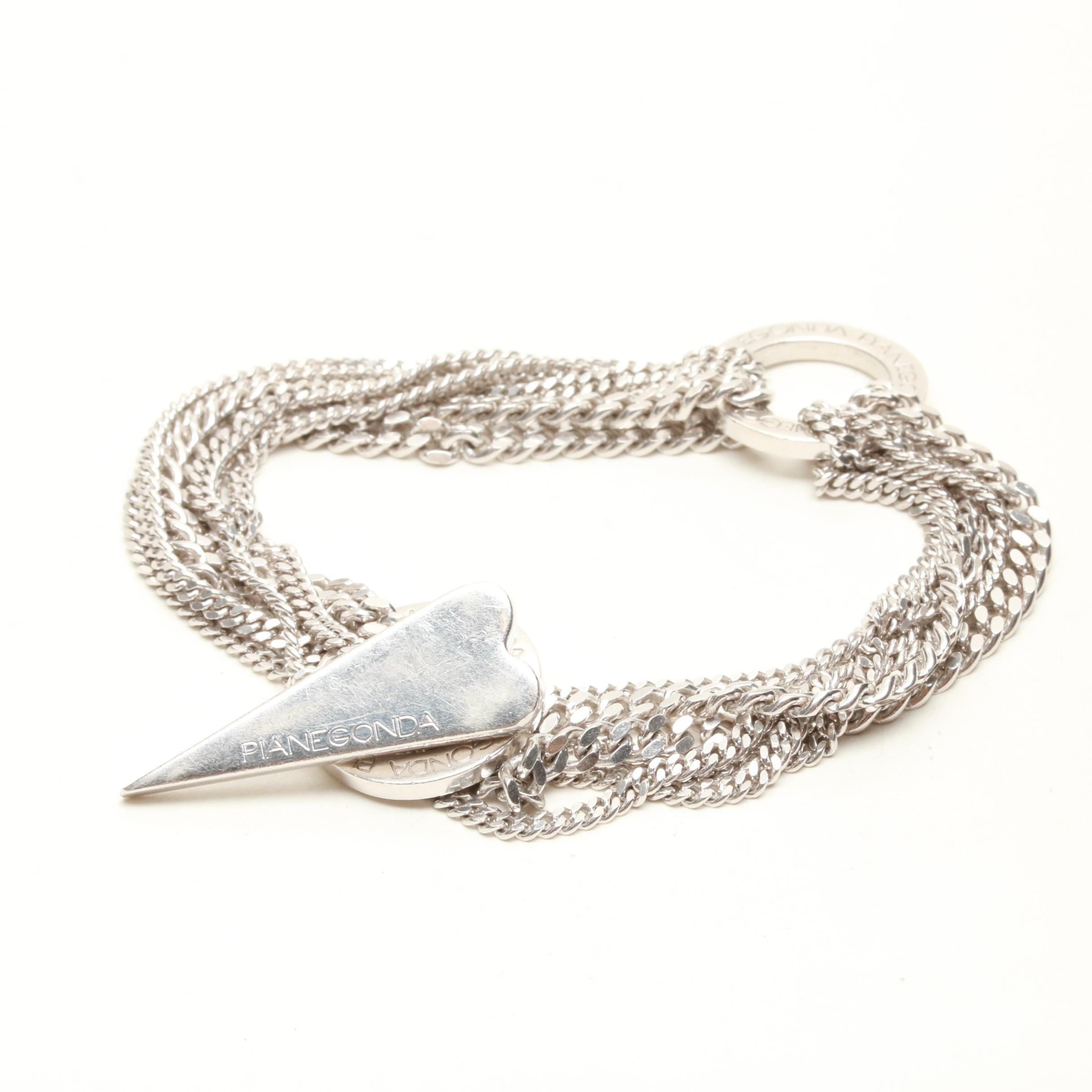 Pianegonda Love Trait D'Union Collection Italian Sterling Silver Bracelet