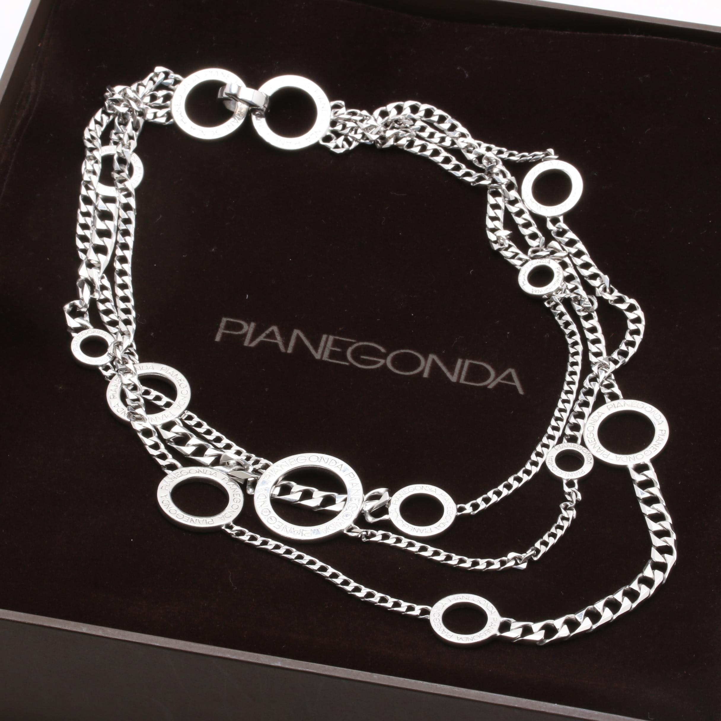 Pianegonda Love Trait D'Union Collection Sterling Silver Necklace