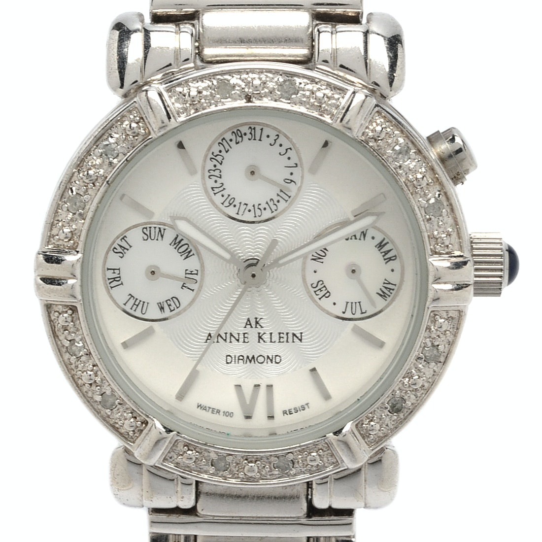 Anne Klein Mother of Pearl and Diamond Wristwatch