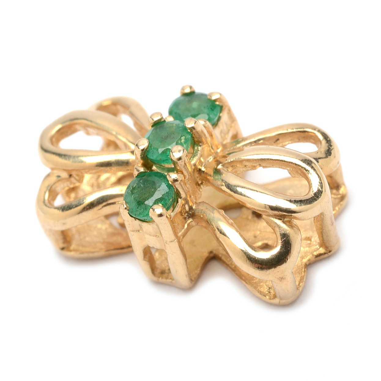 Alwand Vahan 14K Yellow Gold Emerald Slide Pendant Charm