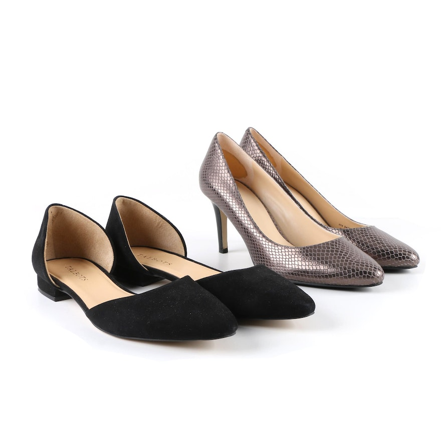 Cole Haan Leather Embossed Pumps visit sale sast discount amazing price 3s6JFpHT