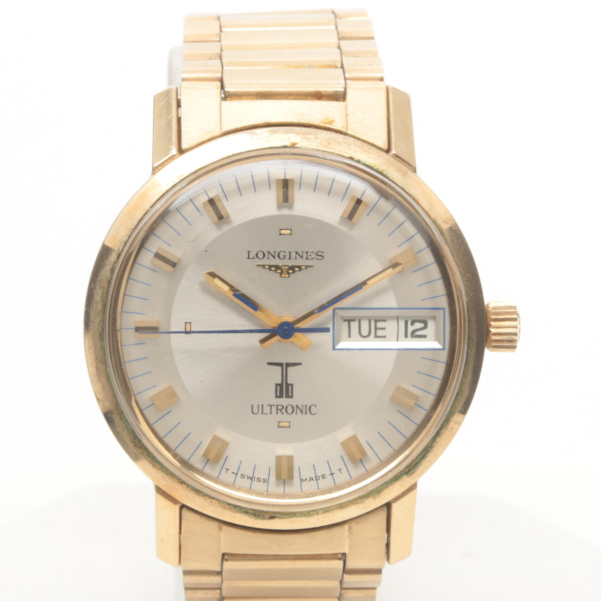 Longines Ultronic Gold Filled and Stainless Steel Wristwatch