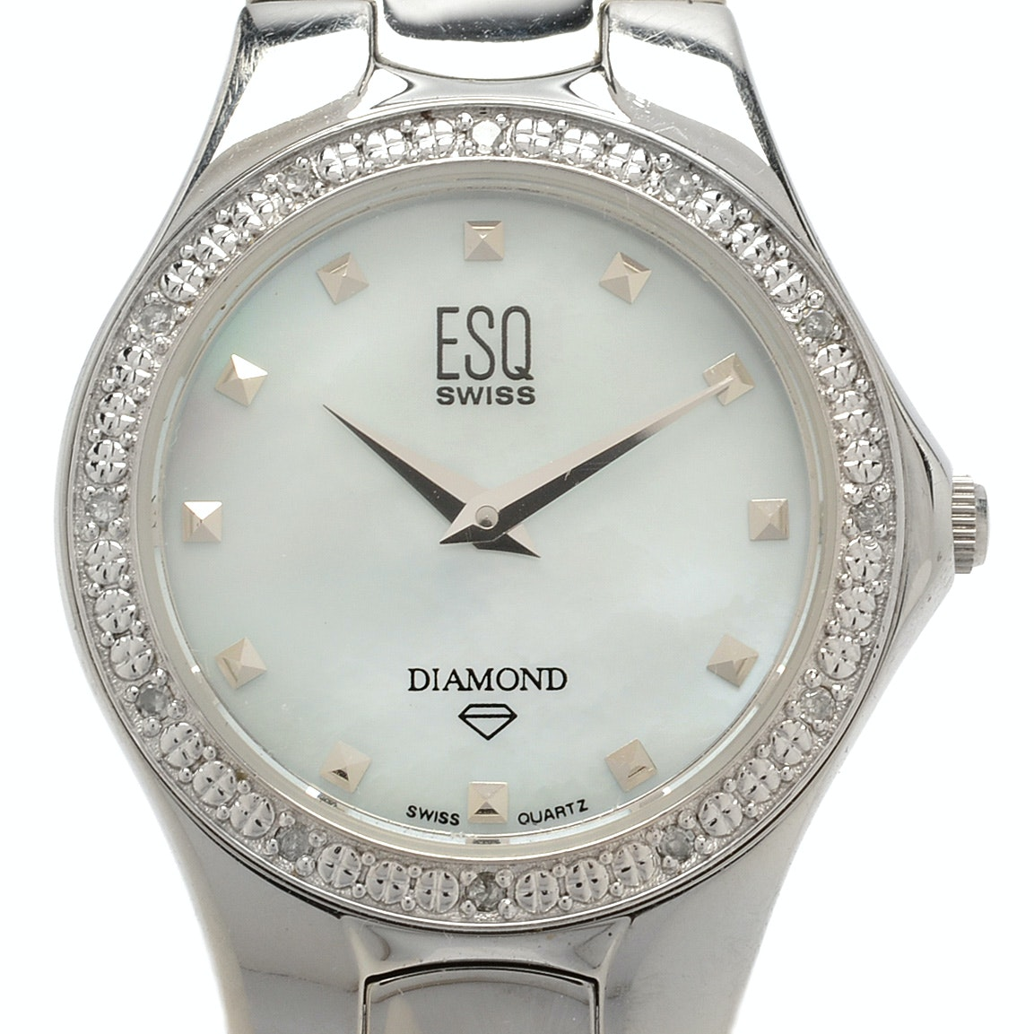 ESQ Mother of Pearl and Diamond Wristwatch