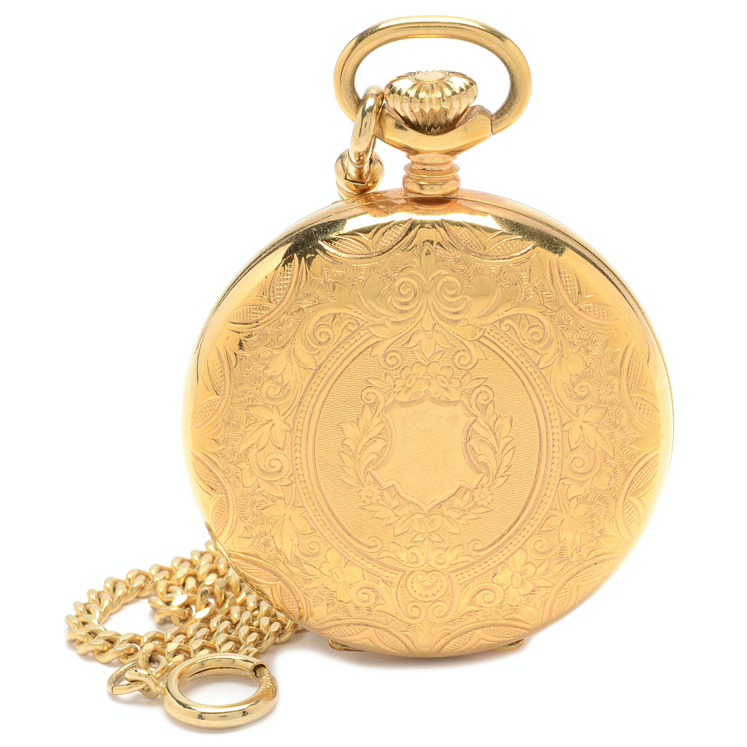 Arnex Hunting Case Pocket Watch with Fob