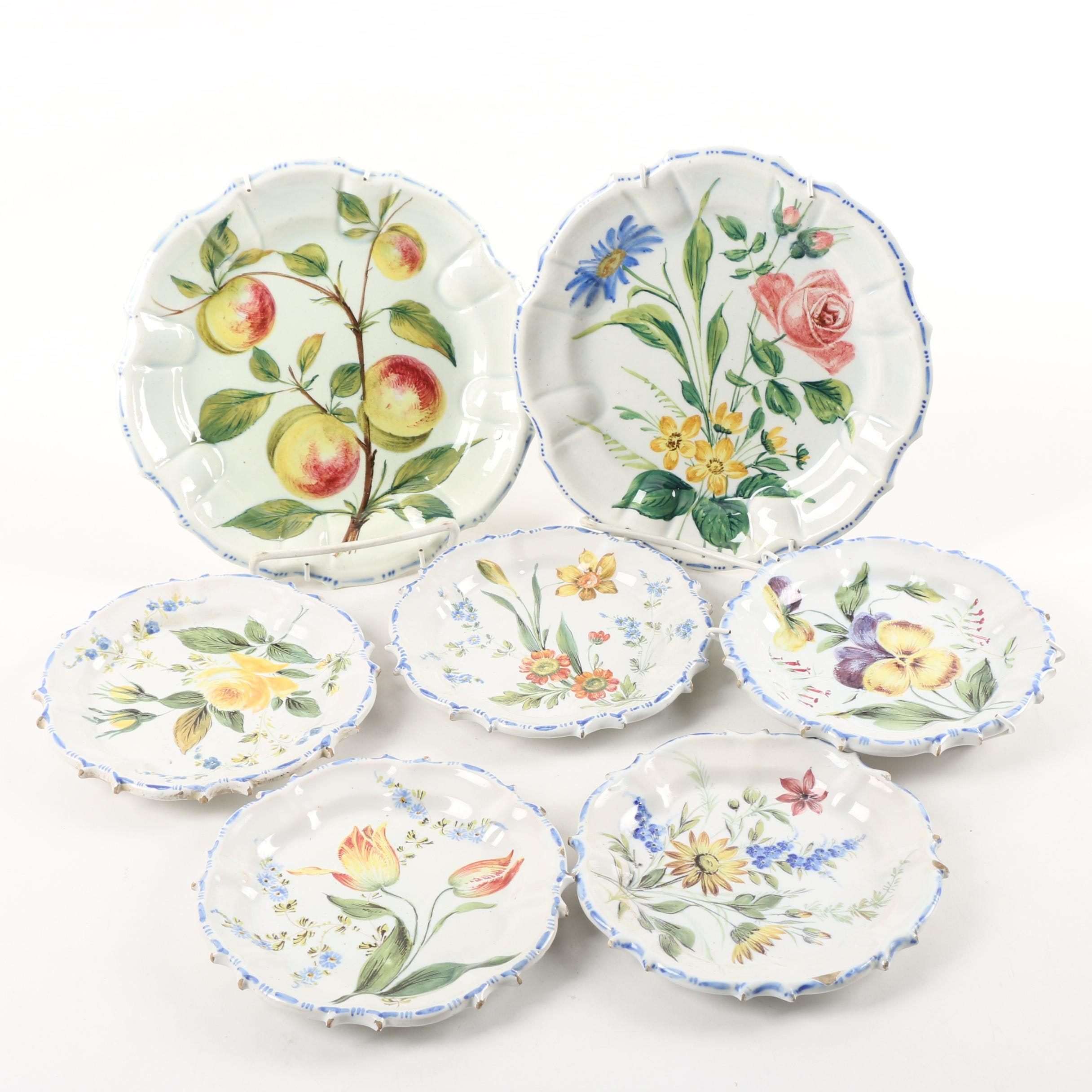 Vintage Nove and other Majolica Plates