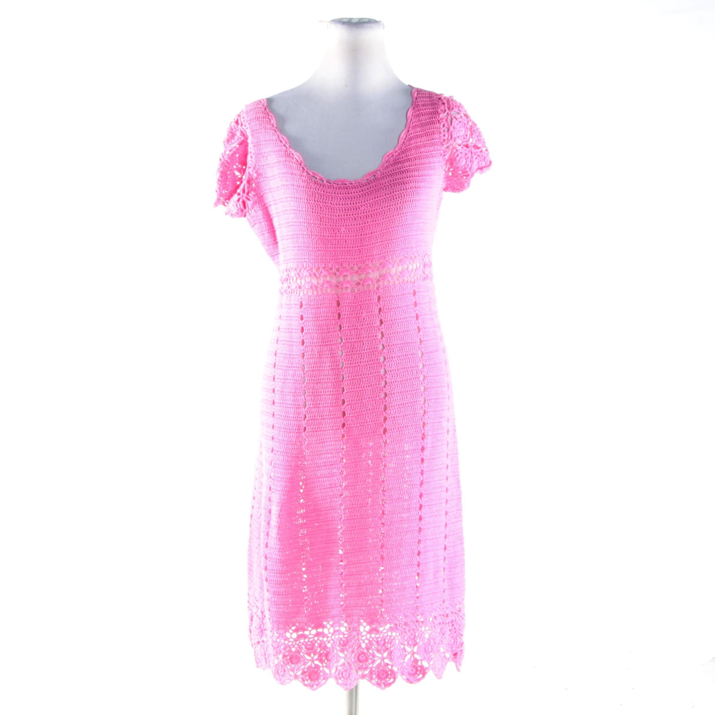 Lilly Pulitzer Pink Crochet Dress