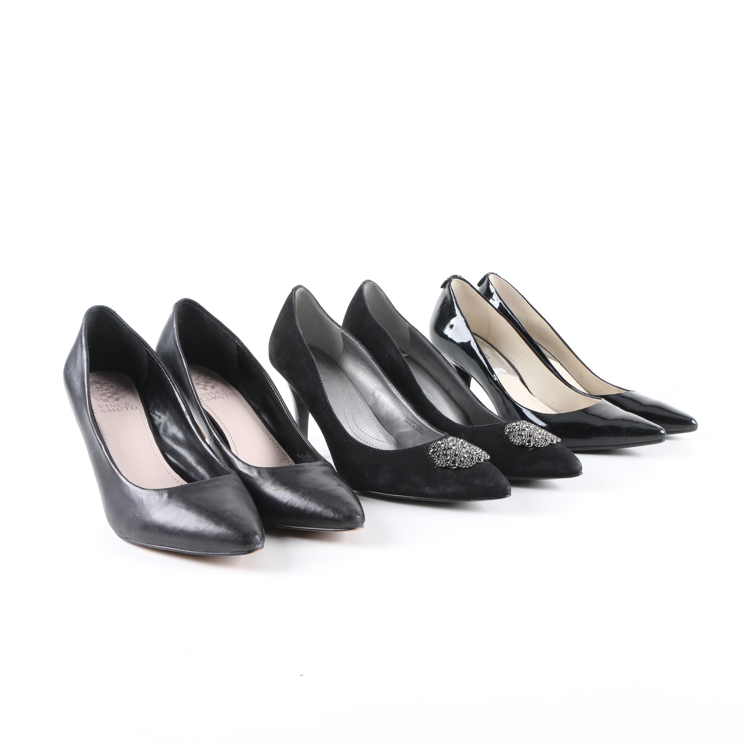 Black Pumps Including MICHAEL Michael Kors, Tahari and Vince Camuto