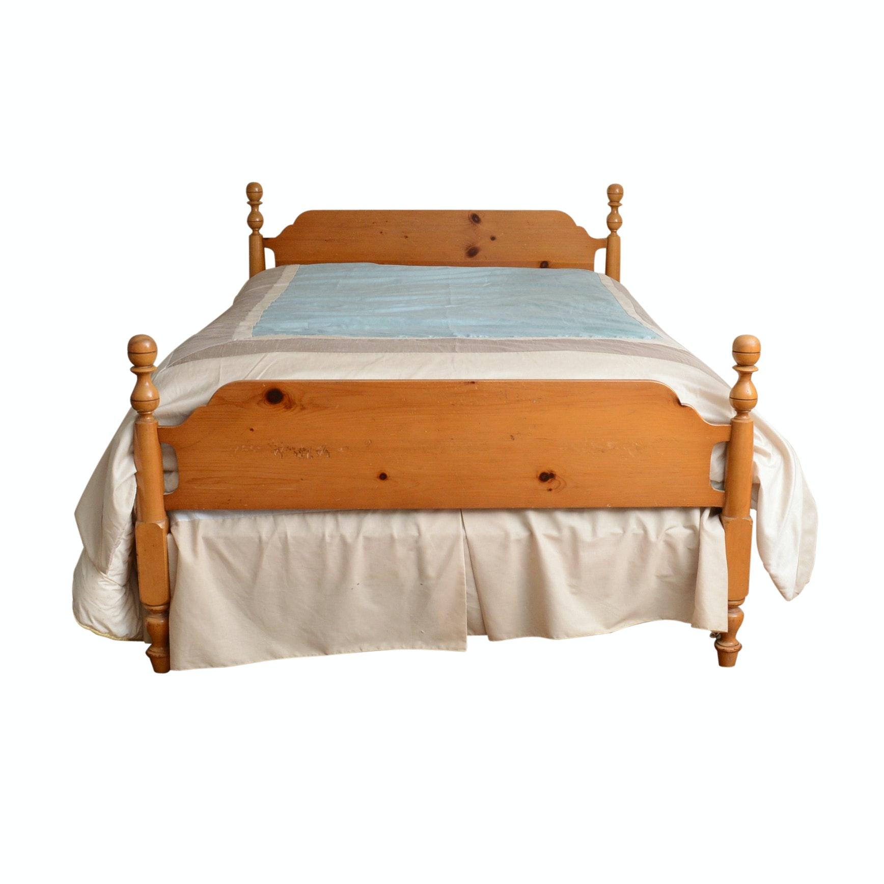 Vintage Pine Wood Bed Frame (Full)