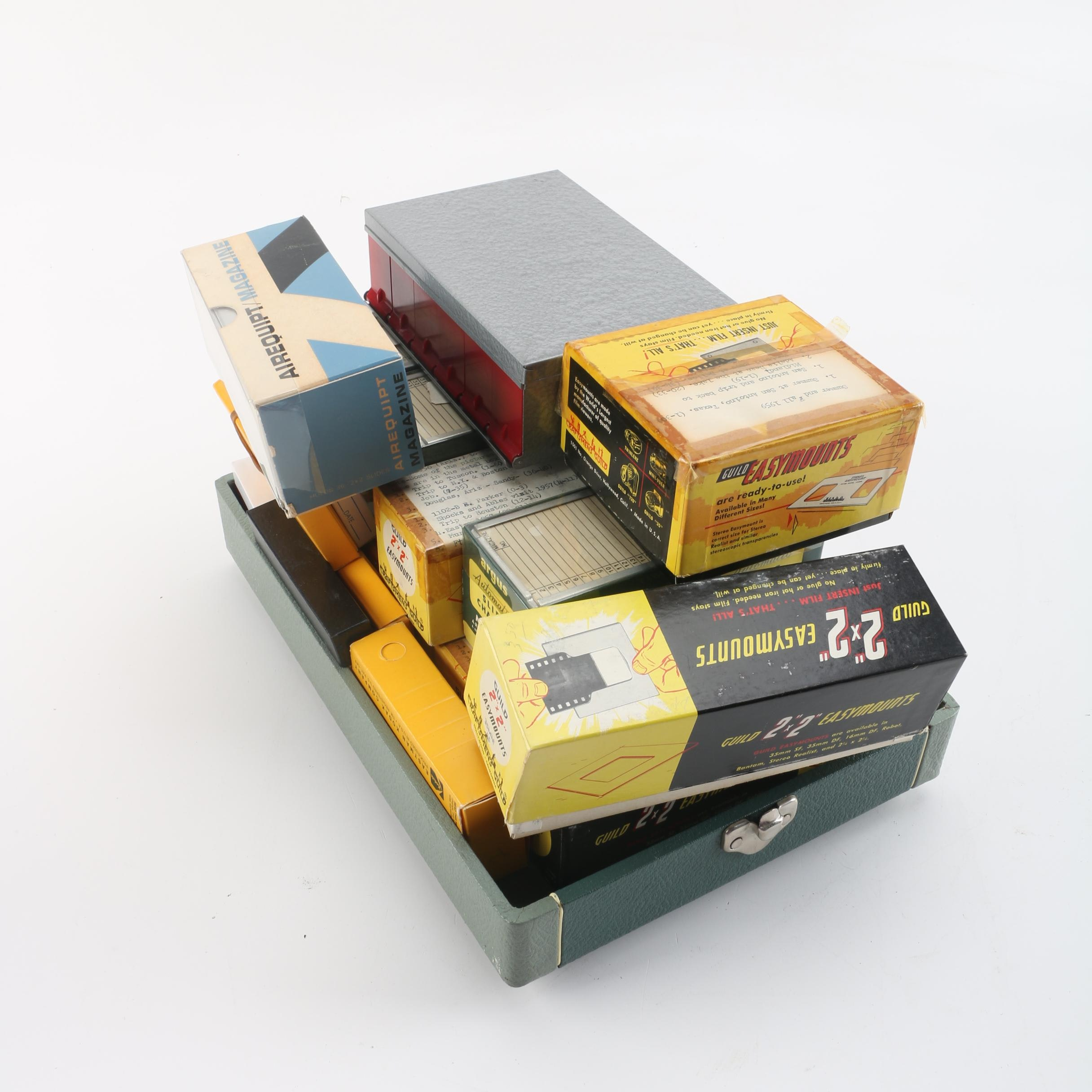 Family Photo Travel Slides with Slide Changer Magazines and Hard-Sided Case