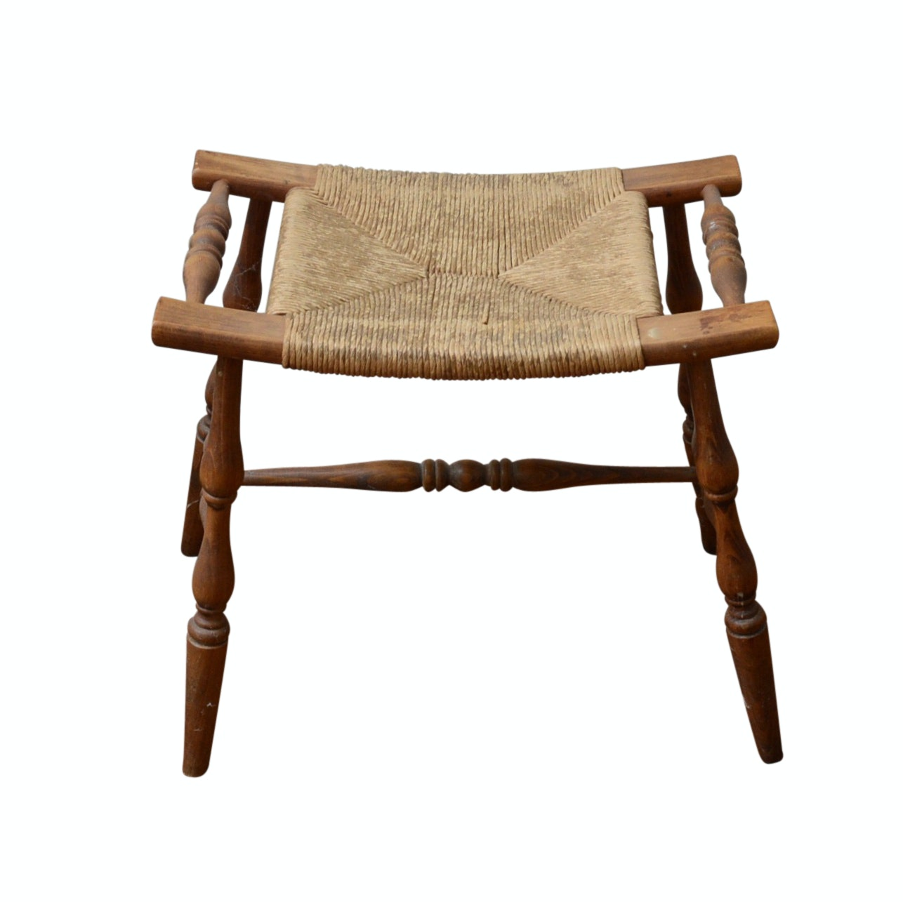 Antique Hand-Crafted Wooden Stool