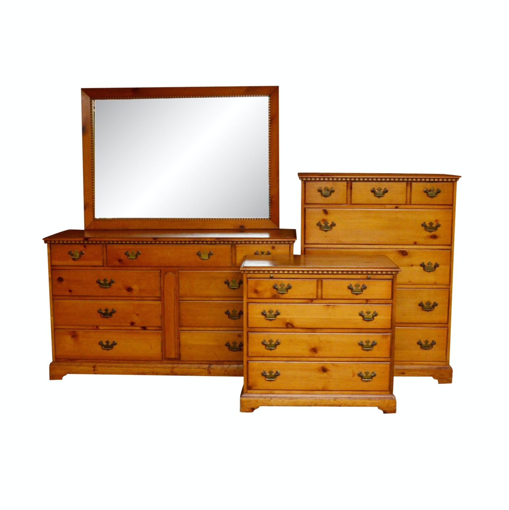 Trio of Pine Dressers