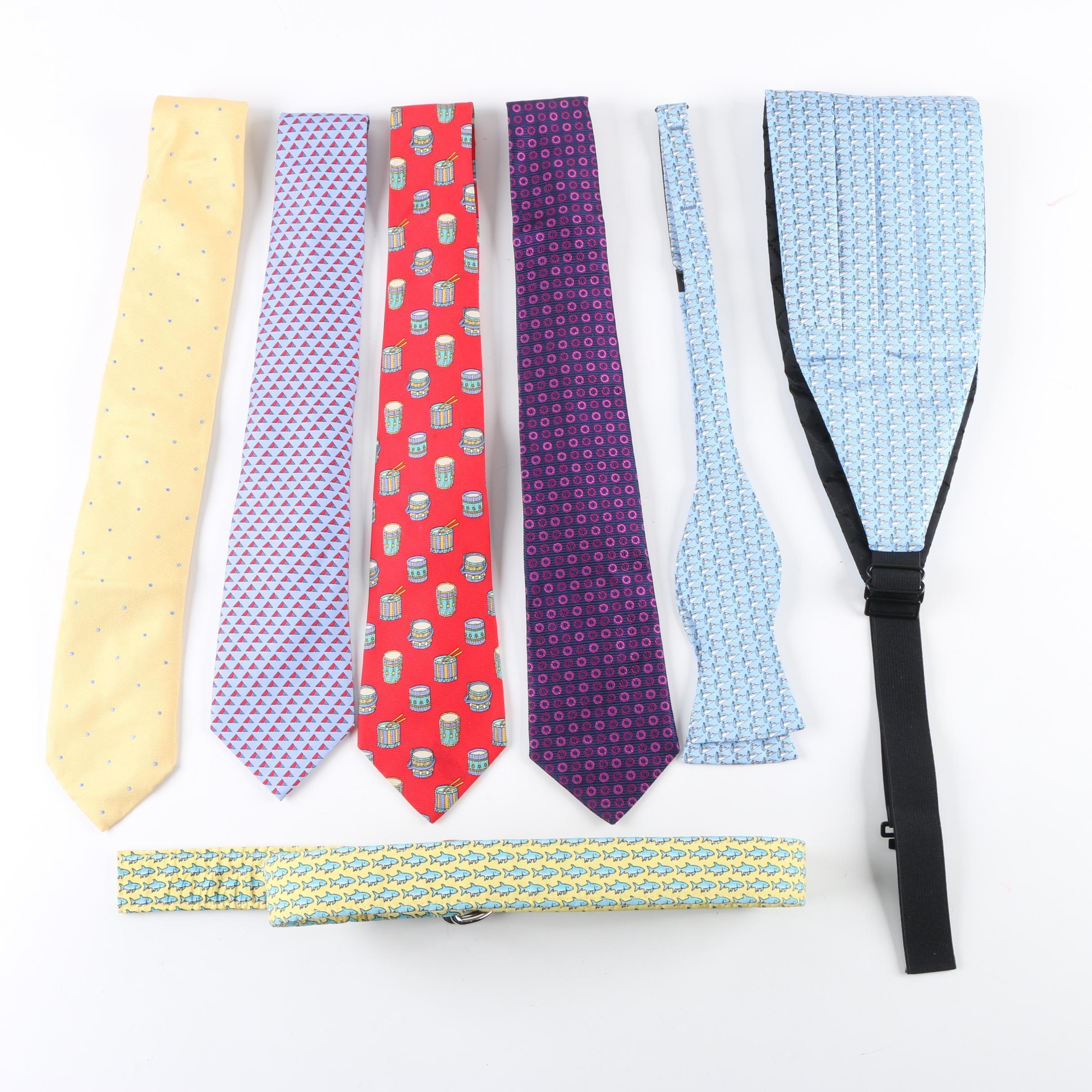 Neckties, Belt and Cummerbund Including Chanel and Vineyard Vines