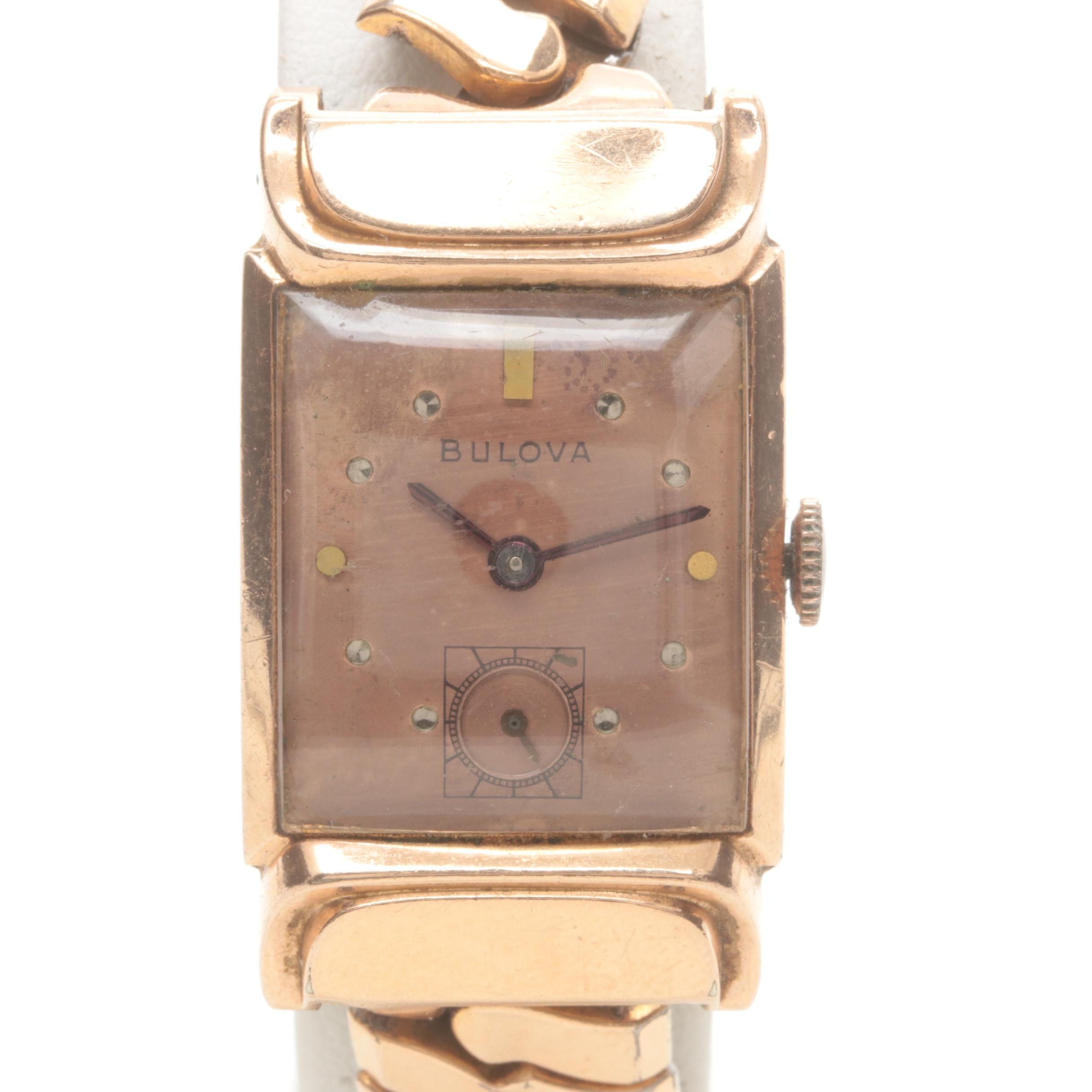 Bulova Gold Filled and Stainless Steel Stem Wind Wristwatch
