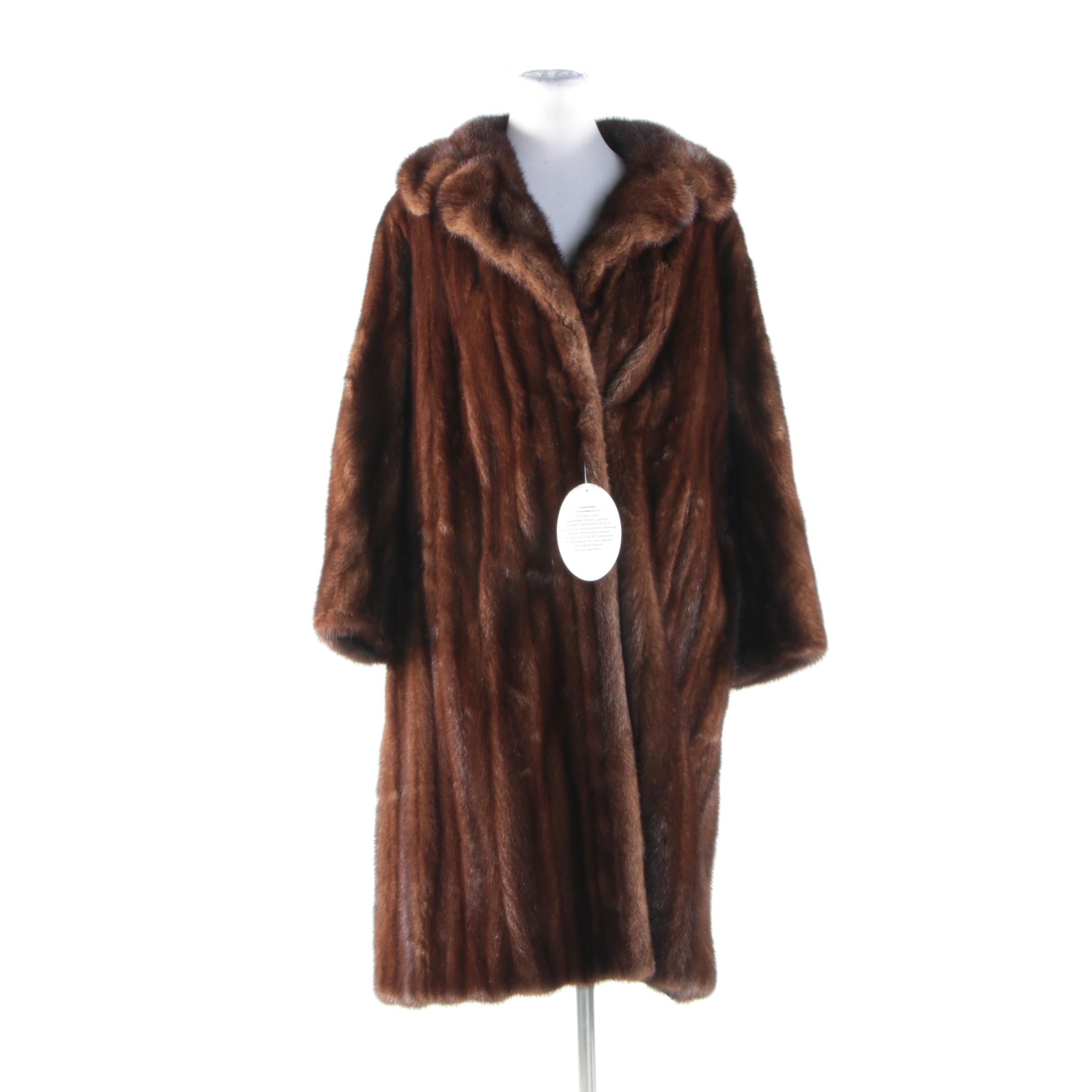 A. Dworkin Brown Mink Fur Coat