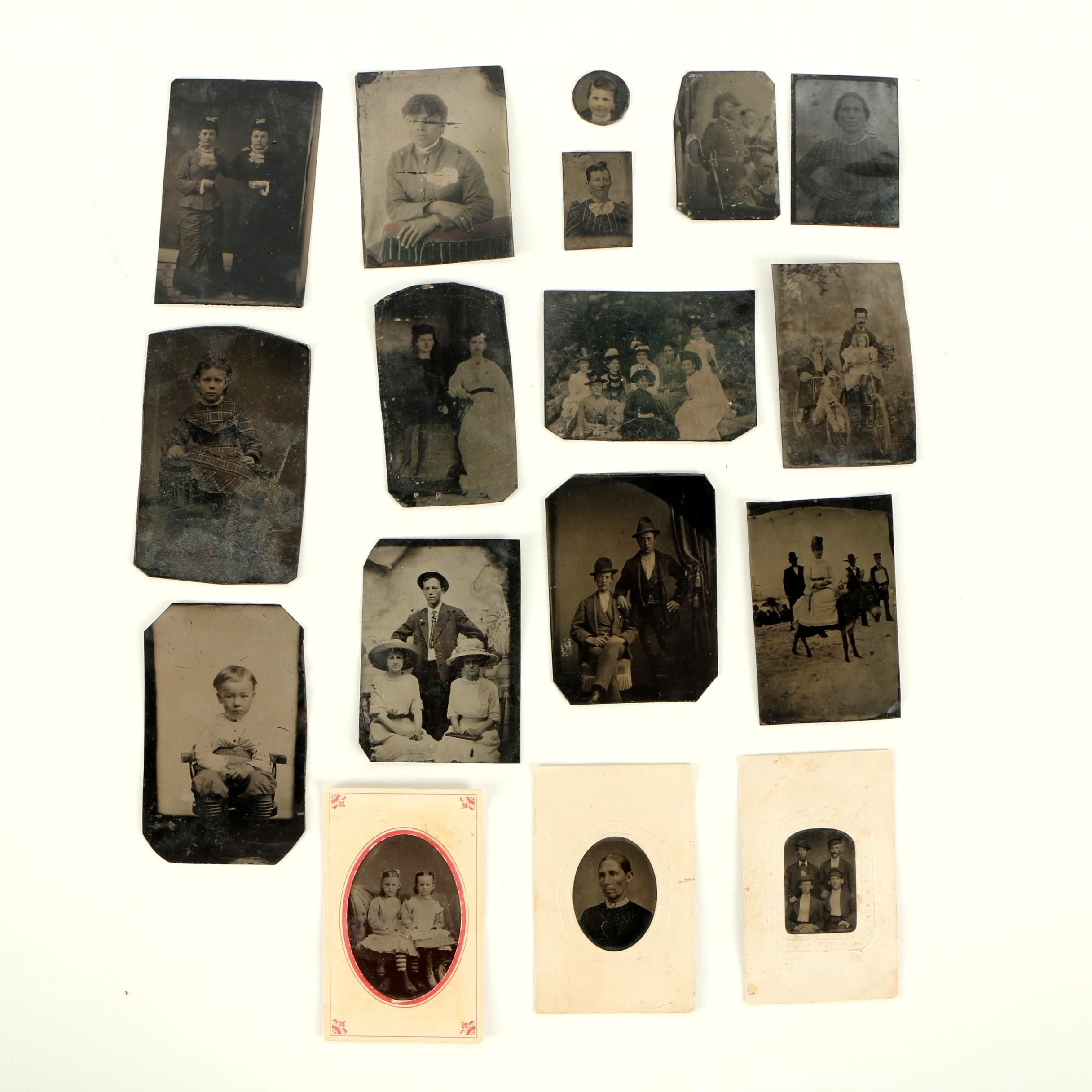 Mid to Late 19th Century Tintype Portraits