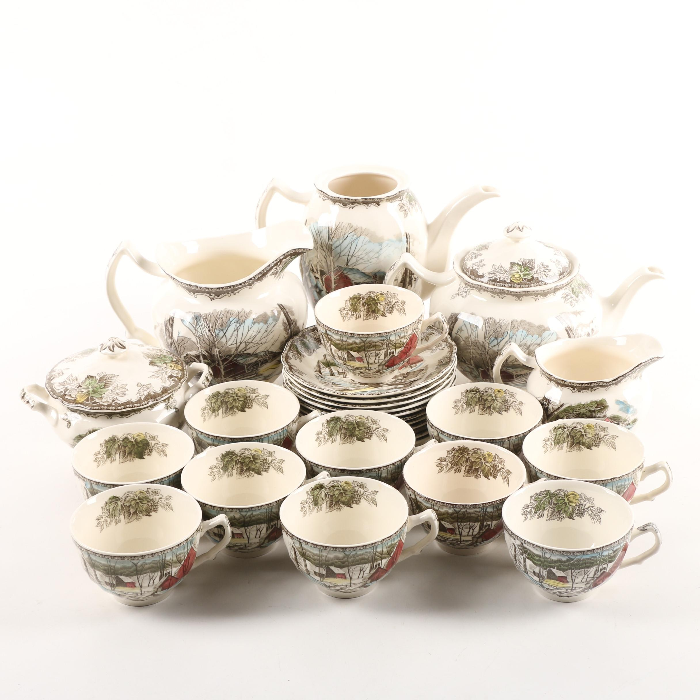 """Johnson Brothers """"The Friendly Village"""" Tea and Coffee Set"""