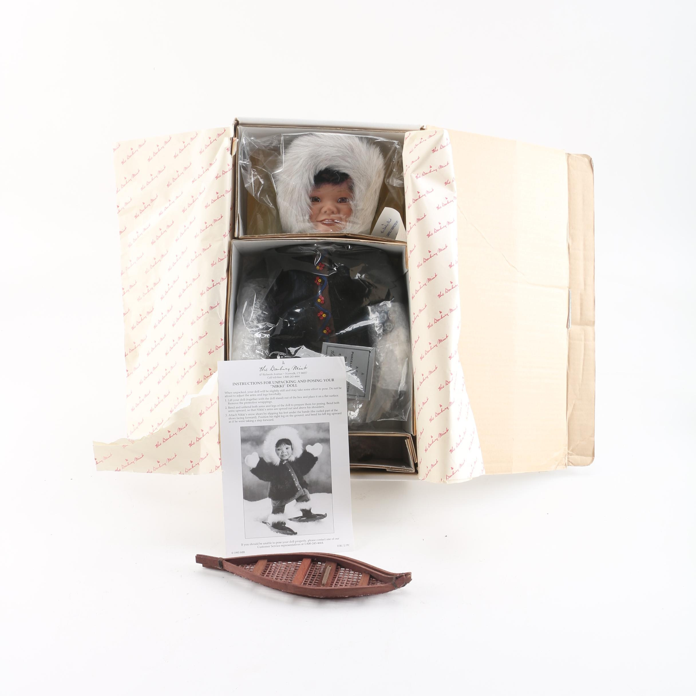 "1993 The Danbury Mint ""Nikki"" Porcelain Doll by Patricia Wall"