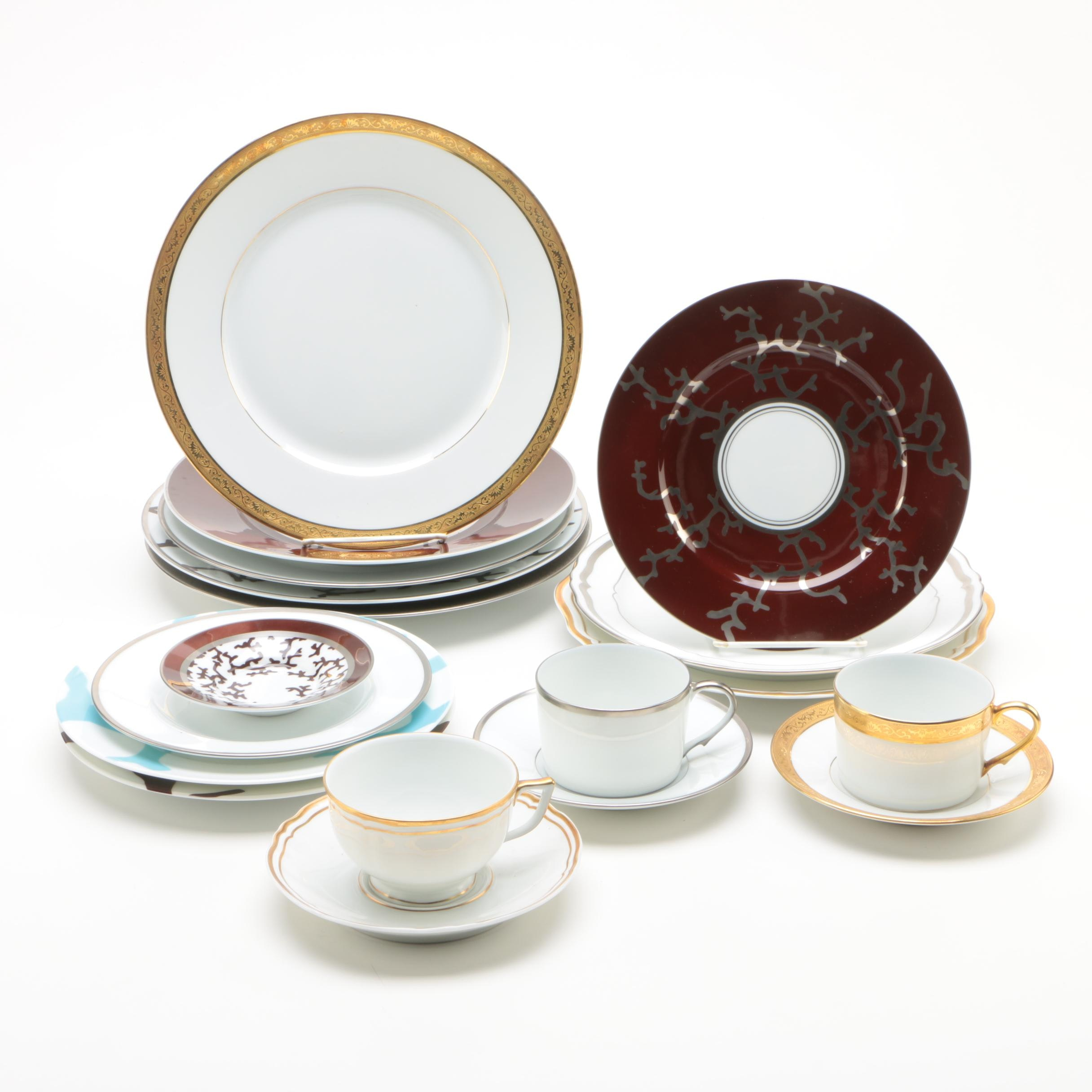 "Raynaud Limoges Porcelain Dinnerware Including ""Marie Antoinette"""