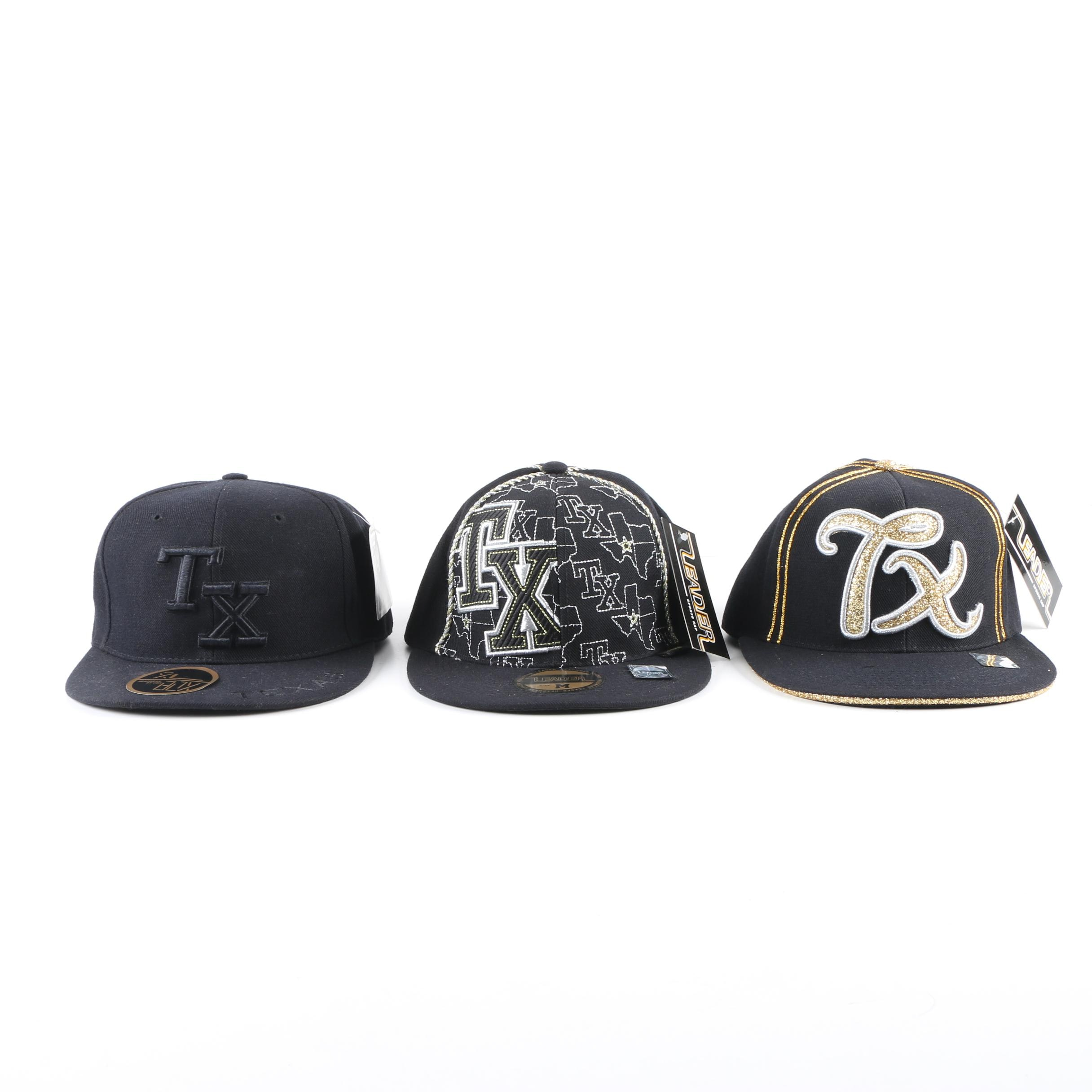 Men's Box Headwear and Leader Texas Baseball Caps