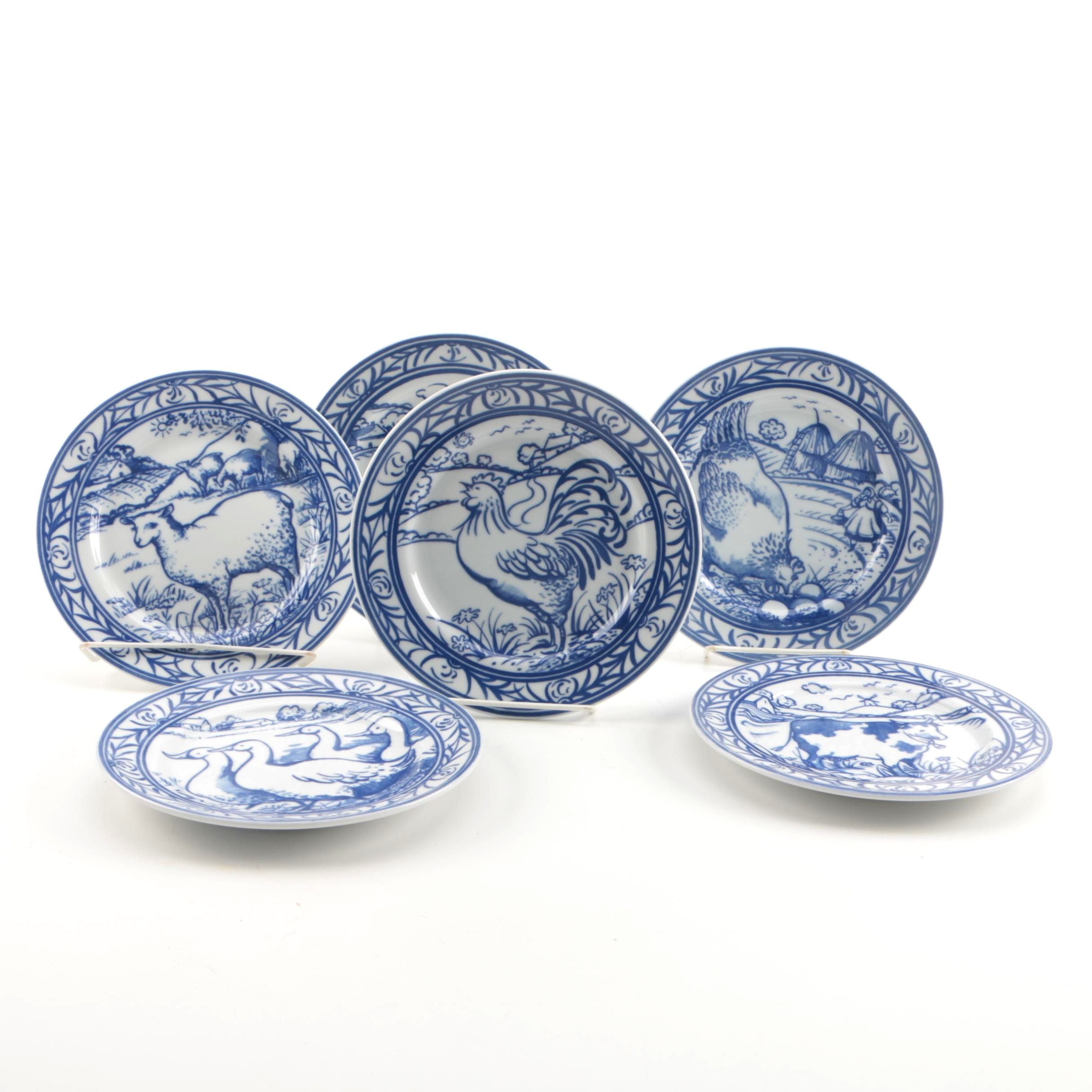 "Williams-Sonoma ""Brittany"" Salad Plate Set"