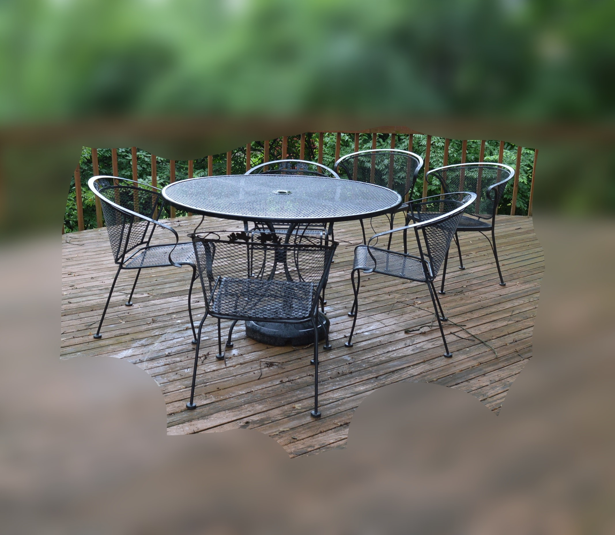 Patio Dining Table and Six Chairs