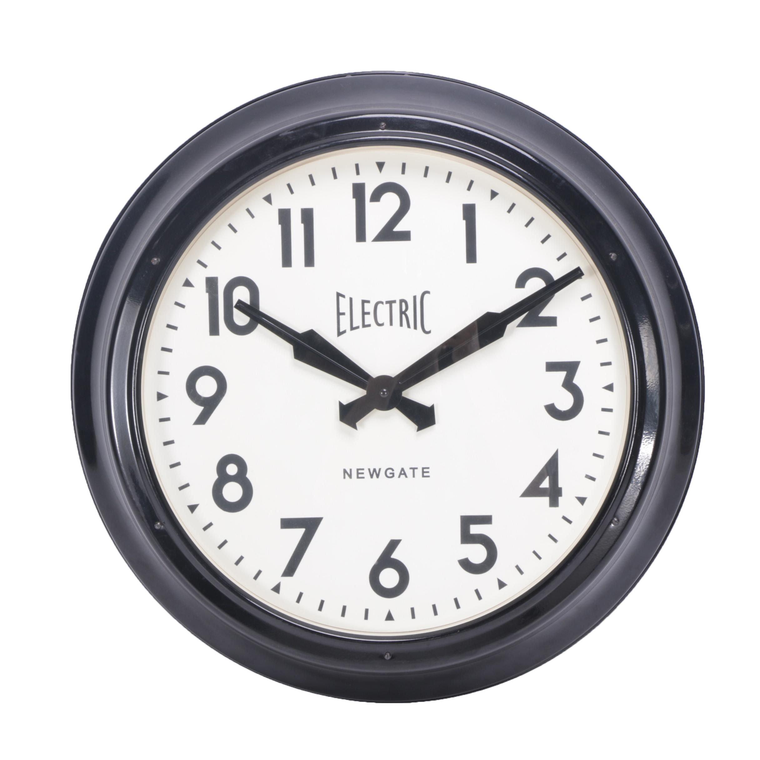 Large Electric Newgate Wall Clock