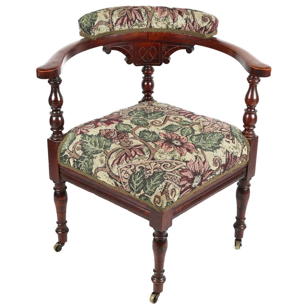 Antique Eastlake Corner Chair