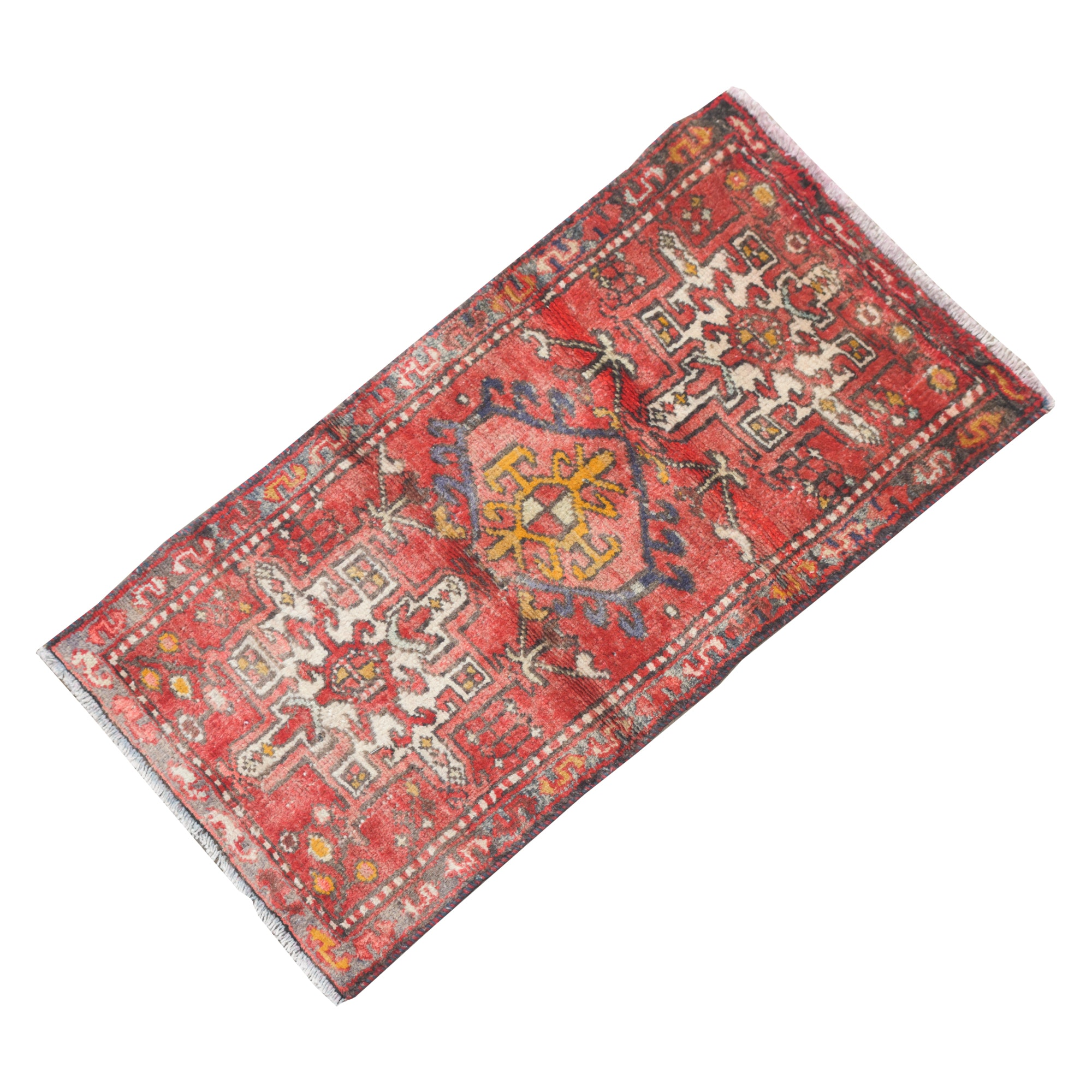 Hand-Knotted Persian Lamberan Wool Accent Rug
