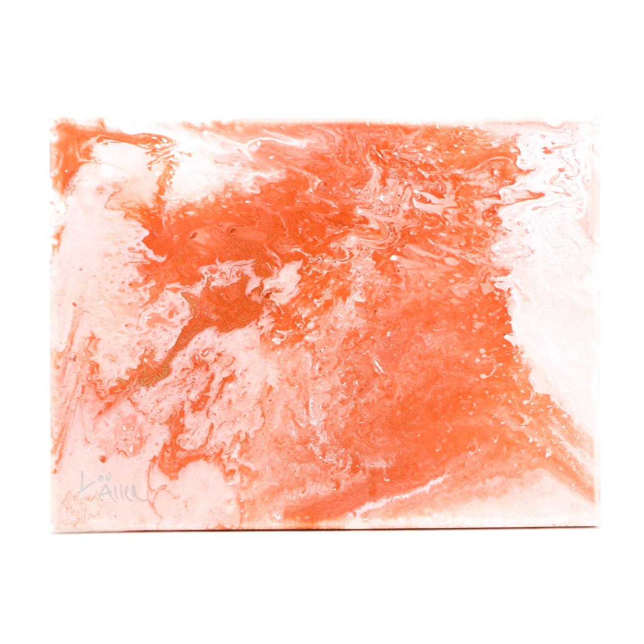 Lou Allen Contemporary Abstract Acrylic on Canvas