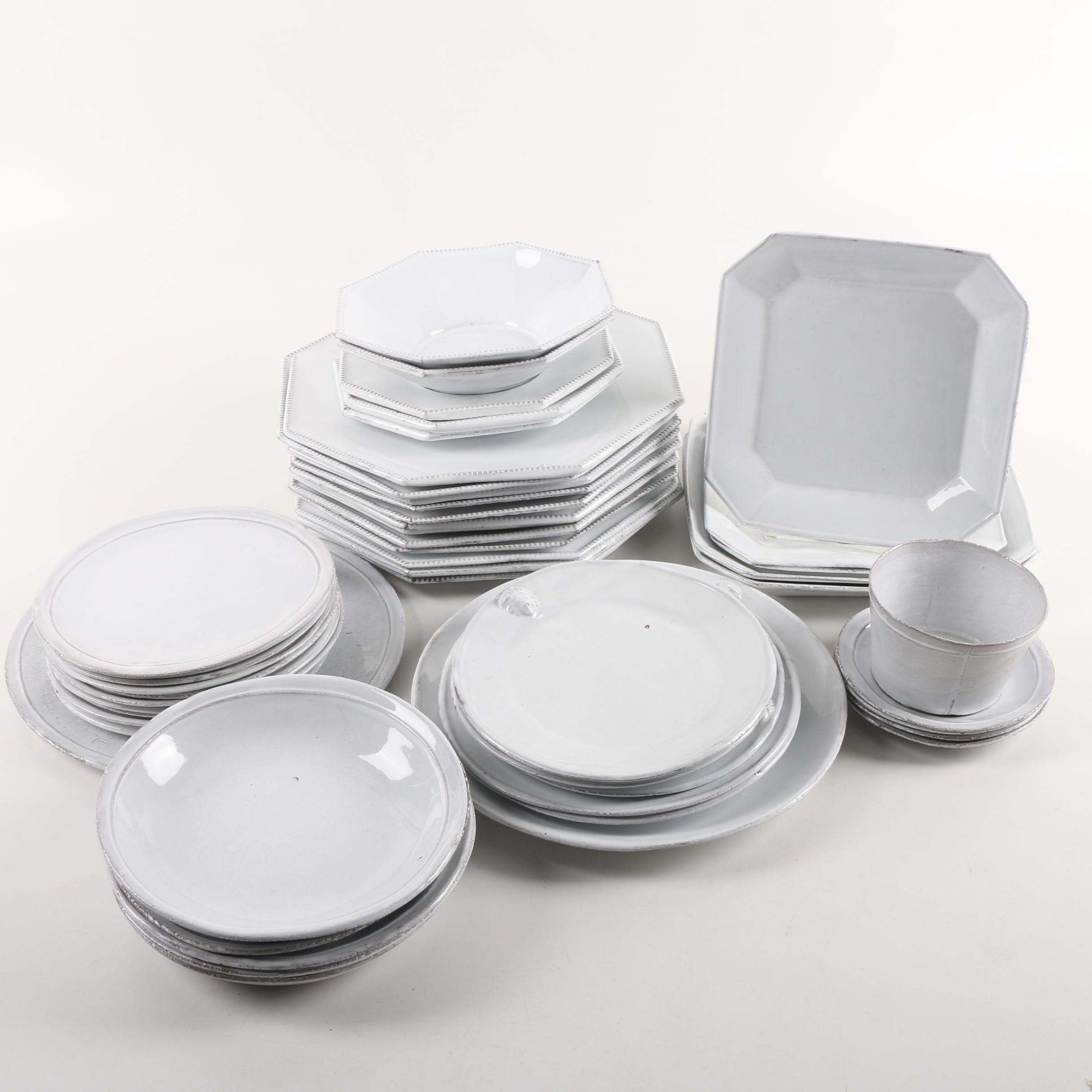 """Astier de Villatte French Handcrafted Terracotta Tableware Featuring """"Simple"""""""